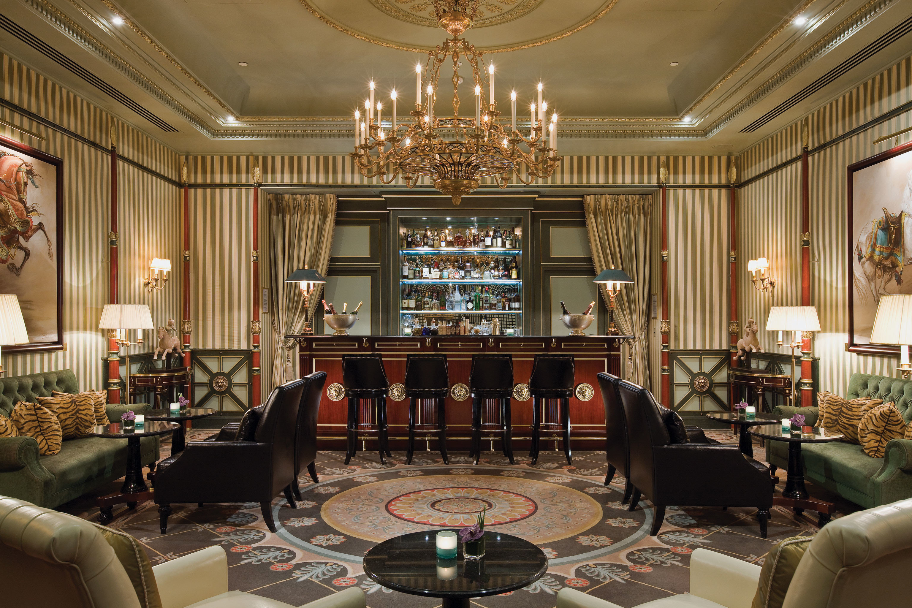 Elegant France Historic Hotels Living Lobby Lounge Luxury Paris Romance indoor room wall table sofa ceiling chair floor furniture window estate living room function hall interior design dining room home ballroom mansion palace restaurant area set decorated several