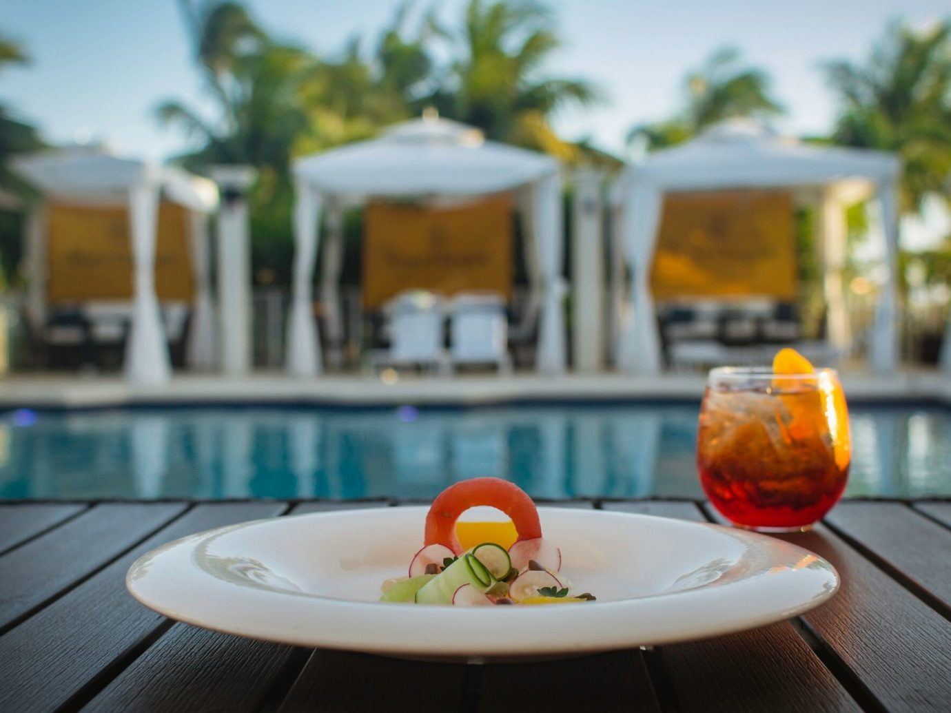 Trip Ideas table food meal restaurant vacation dish estate swimming pool