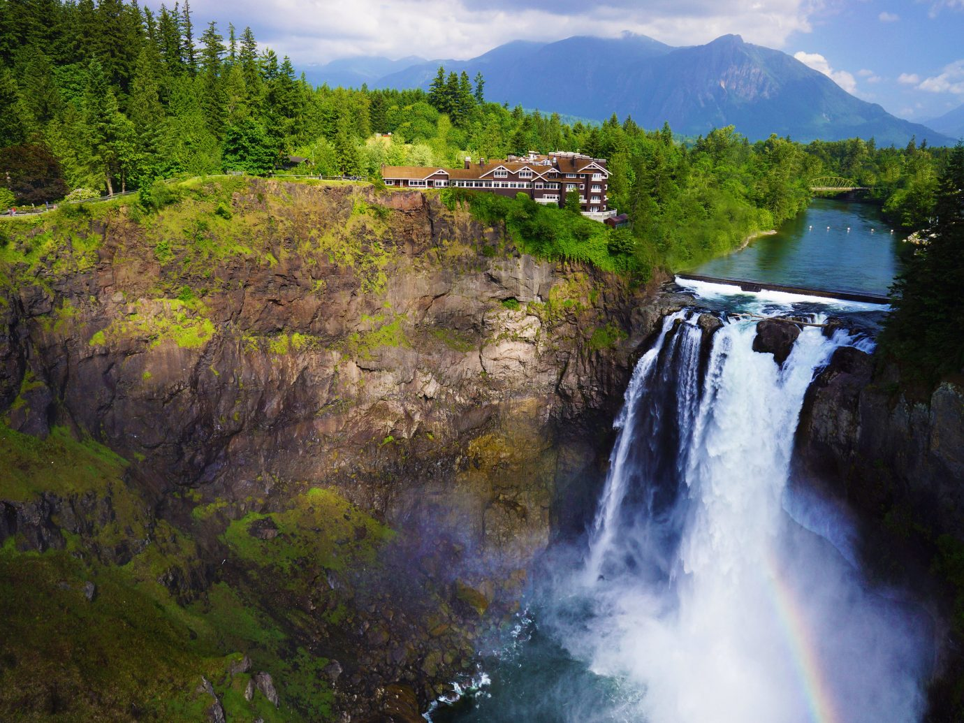 Country Hotels Lake Lakes + Rivers Mountains Nature Outdoors tree outdoor water Waterfall body of water wilderness mountain water feature River reflection landscape stream fjord national park autumn Forest surrounded wooded