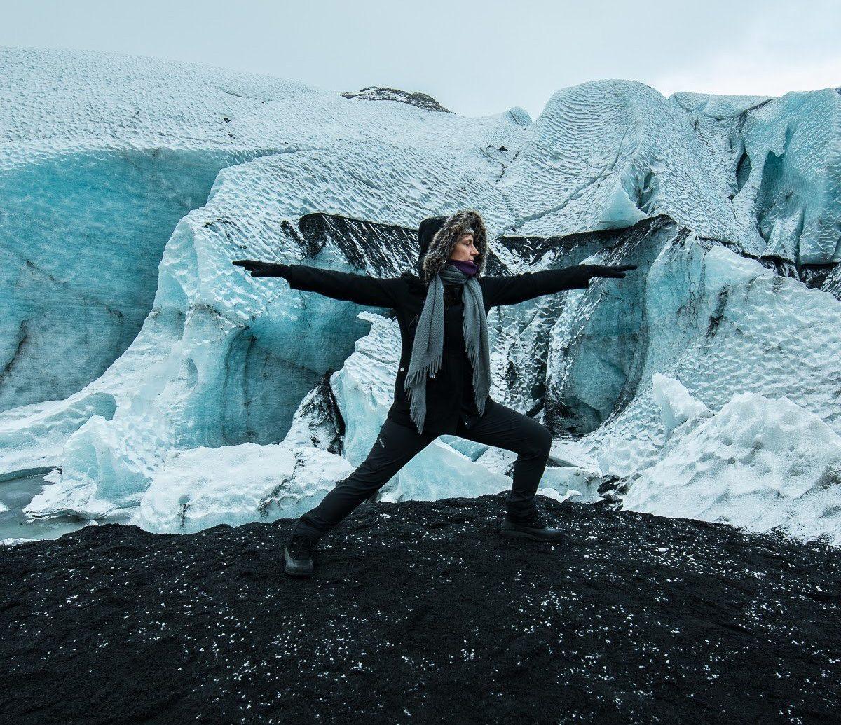 Health + Wellness Meditation Retreats Trip Ideas Yoga Retreats outdoor ice Nature glacier iceberg Ocean glacial landform wave Sea extreme sport arctic terrain