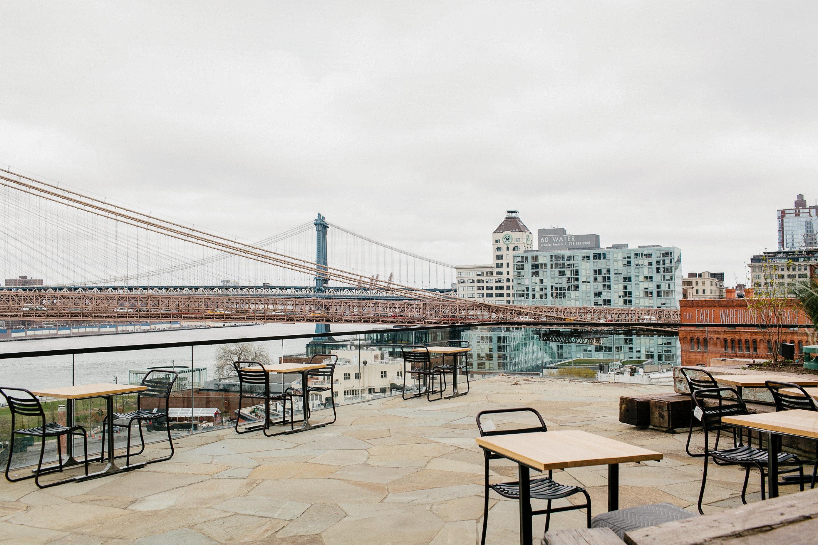 Food + Drink NYC bridge water City sky boardwalk real estate condominium walkway pier building apartment