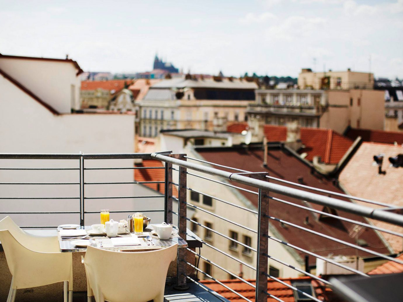 Balcony Buildings Dining Drink Eat europe Hotels Luxury Prague Romantic Scenic views vehicle Boat watercraft ship