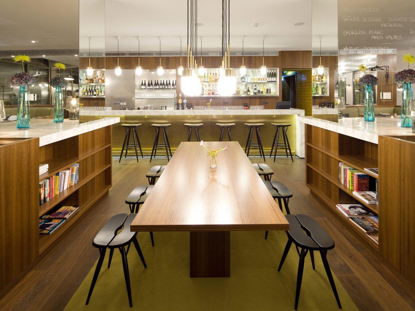 Austria europe Hotels Vienna indoor floor table interior design room shelf restaurant café furniture cafeteria
