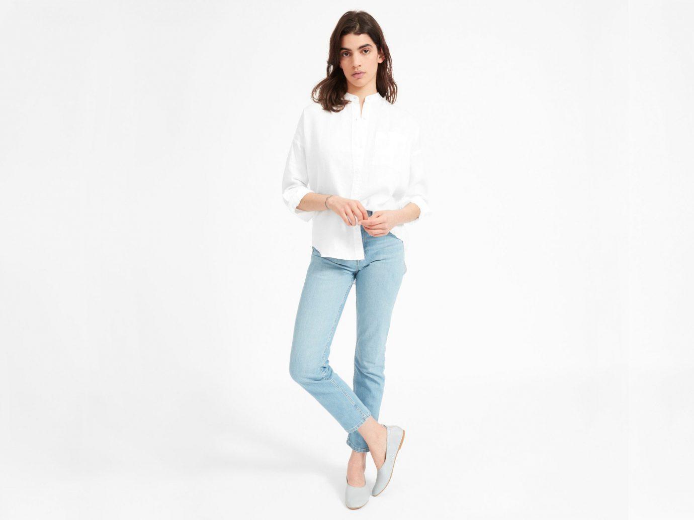 Trip Ideas clothing white person sleeve shoulder jeans neck fashion model shoe waist joint trousers leggings trouser