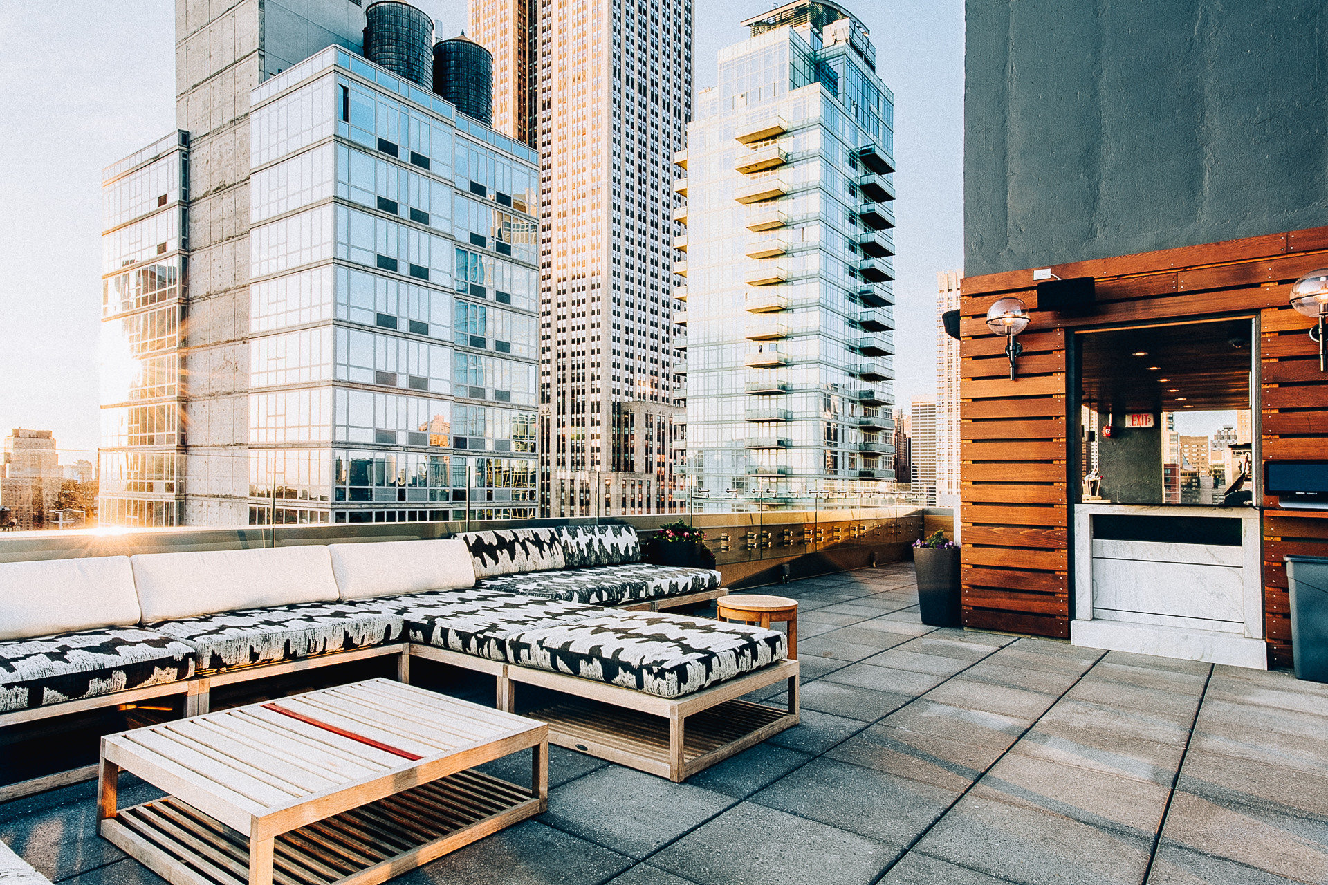 Food + Drink NYC condominium Architecture building furniture City apartment Downtown real estate skyscraper facade window