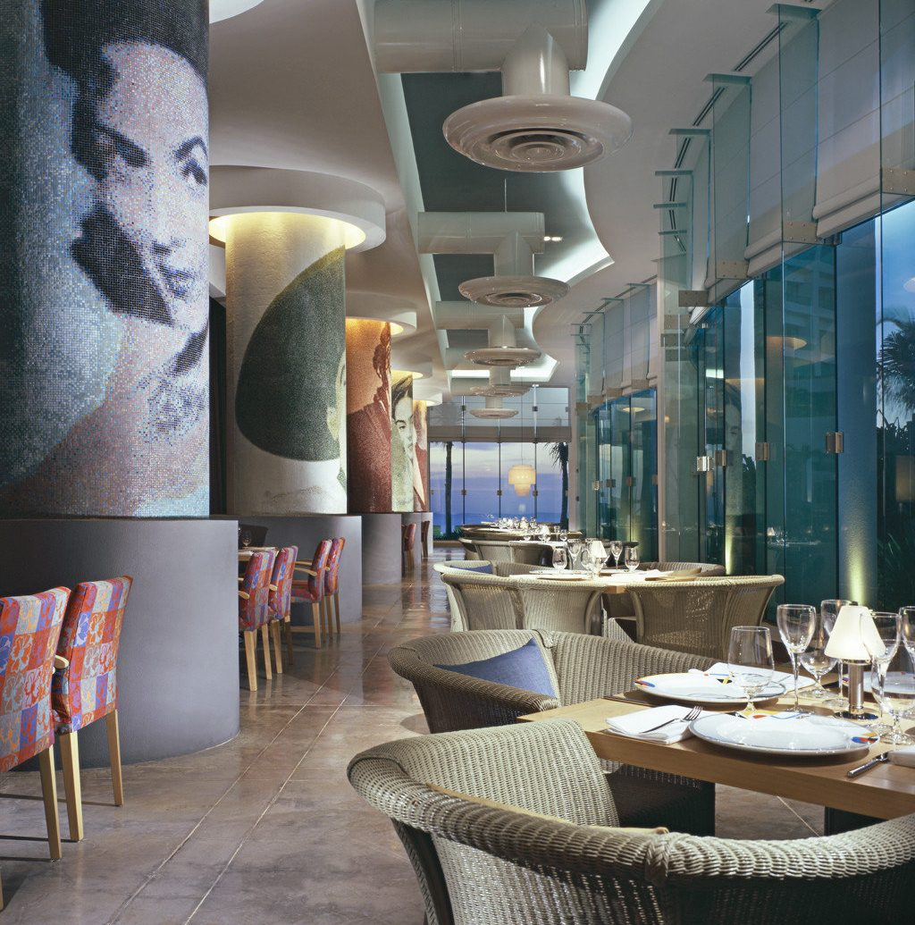 Adult-only All-Inclusive Resorts Cancun Dining Drink Eat Hotels Luxury Mexico Modern Scenic views indoor room interior design art restaurant lighting home window covering living room Design Lobby