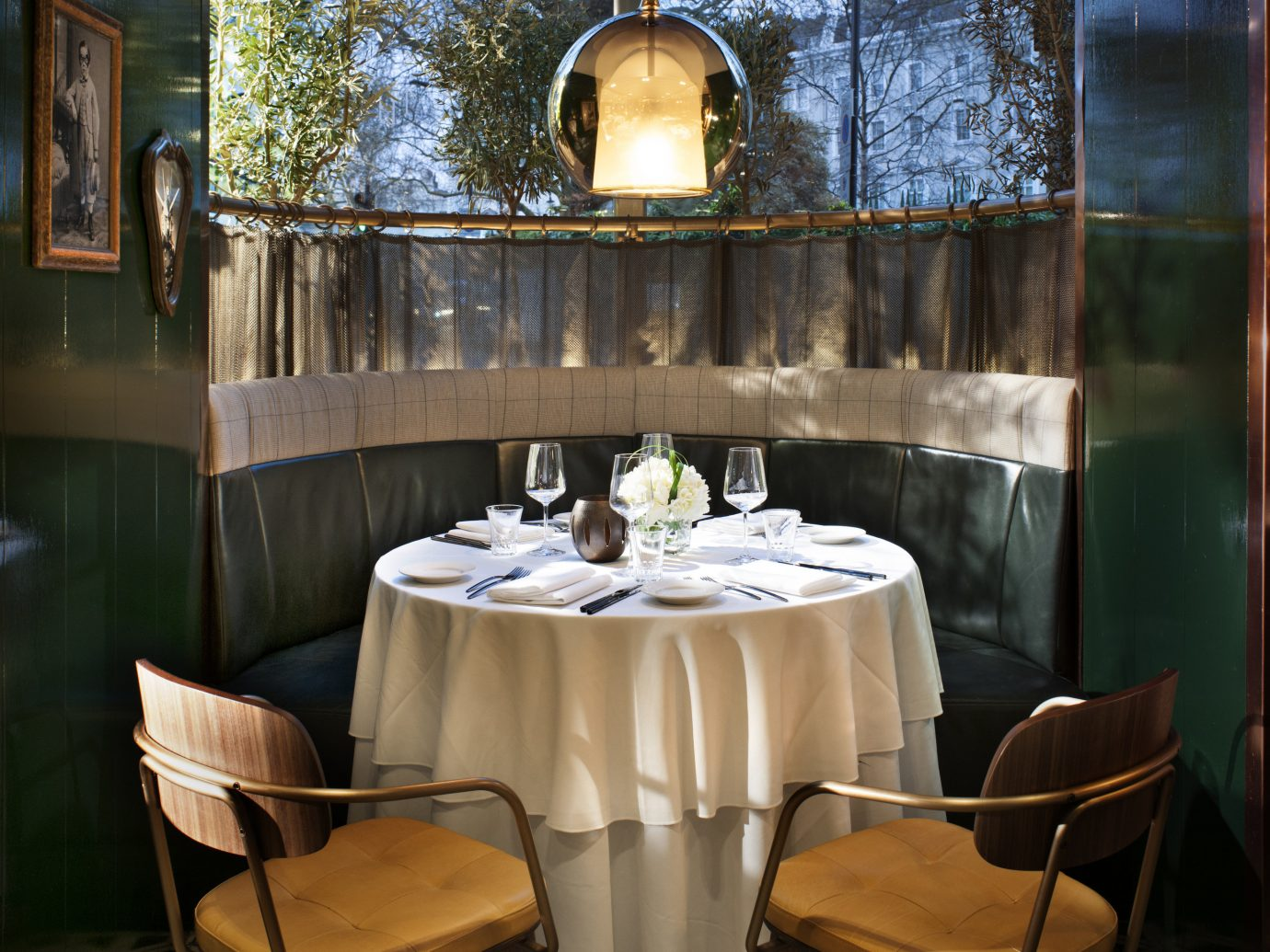 Private table at il Pampero in Belgravia, London