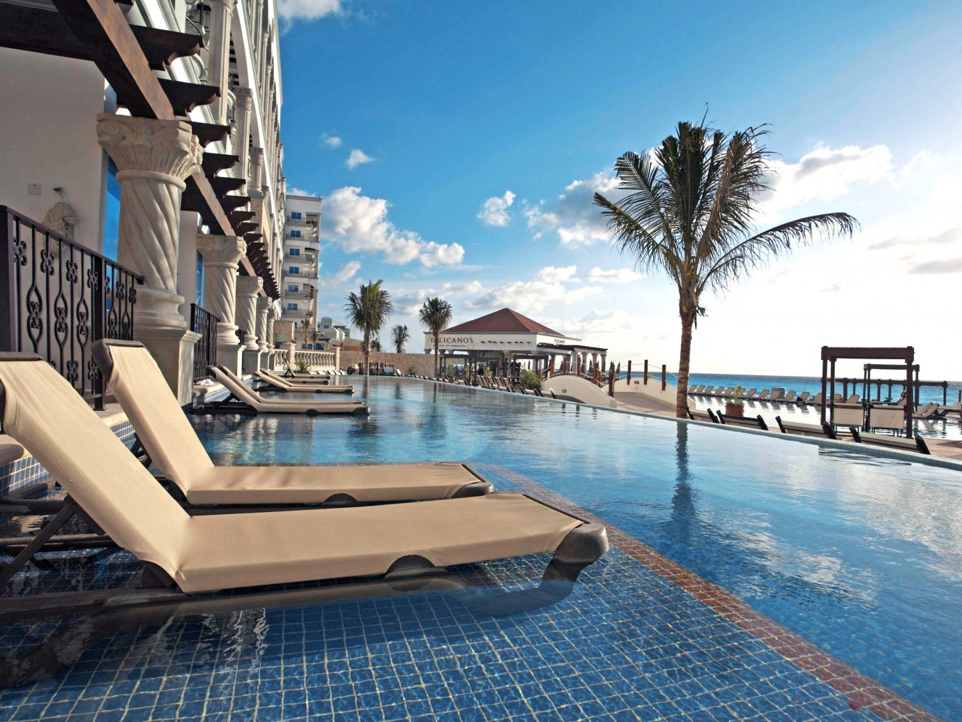 Adult-only All-Inclusive Resorts Cancun Hotels Mexico sky outdoor swimming  pool property Resort