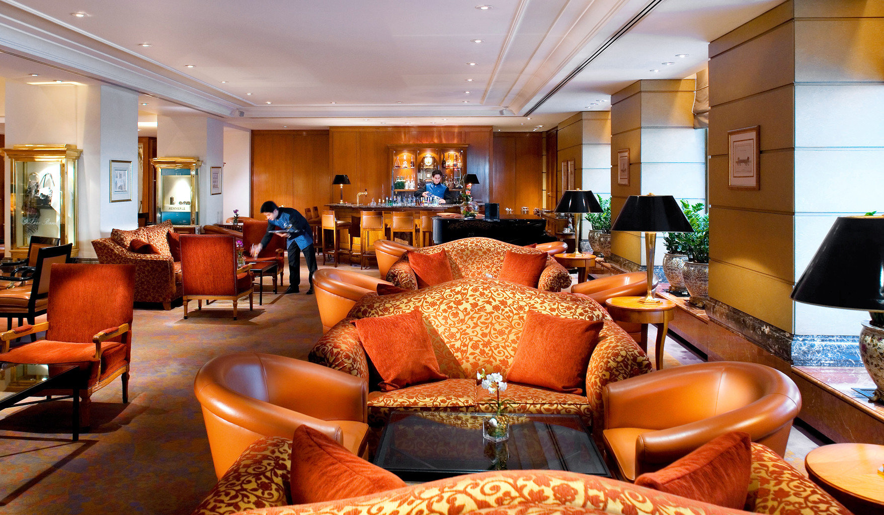 City Dining Drink Eat europe Germany Hotels Lounge Luxury Munich indoor ceiling wall room table Living floor chair property living room estate Suite Lobby furniture Resort home interior design real estate area decorated