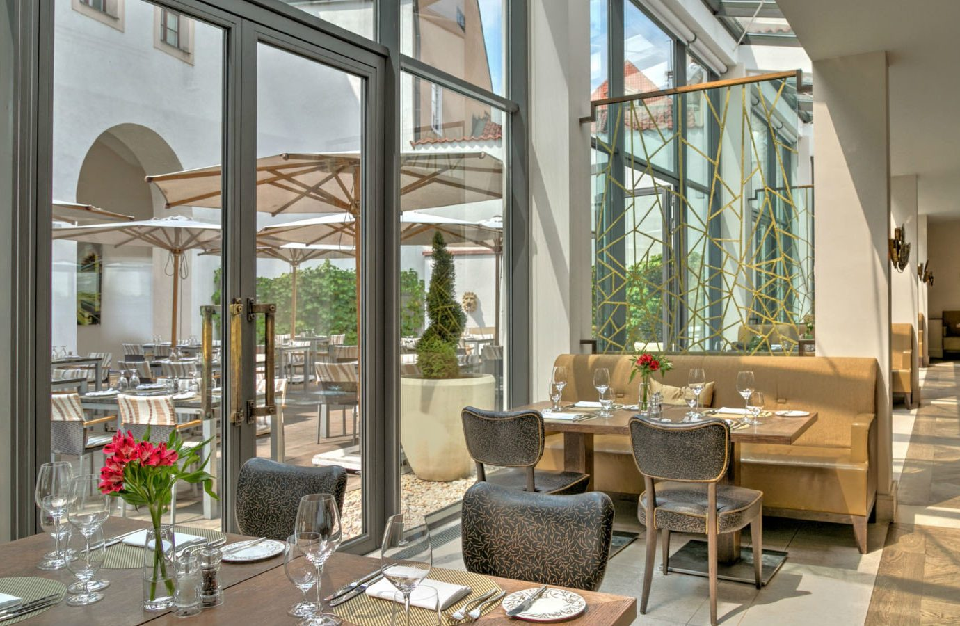 europe Hotels Prague restaurant interior design real estate window apartment penthouse apartment Lobby