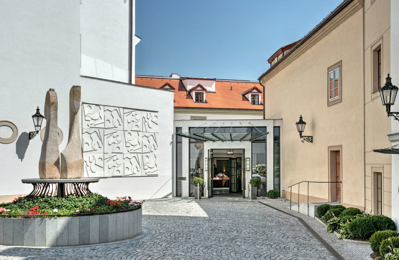 europe Hotels Prague property neighbourhood real estate facade building estate window house Courtyard hacienda