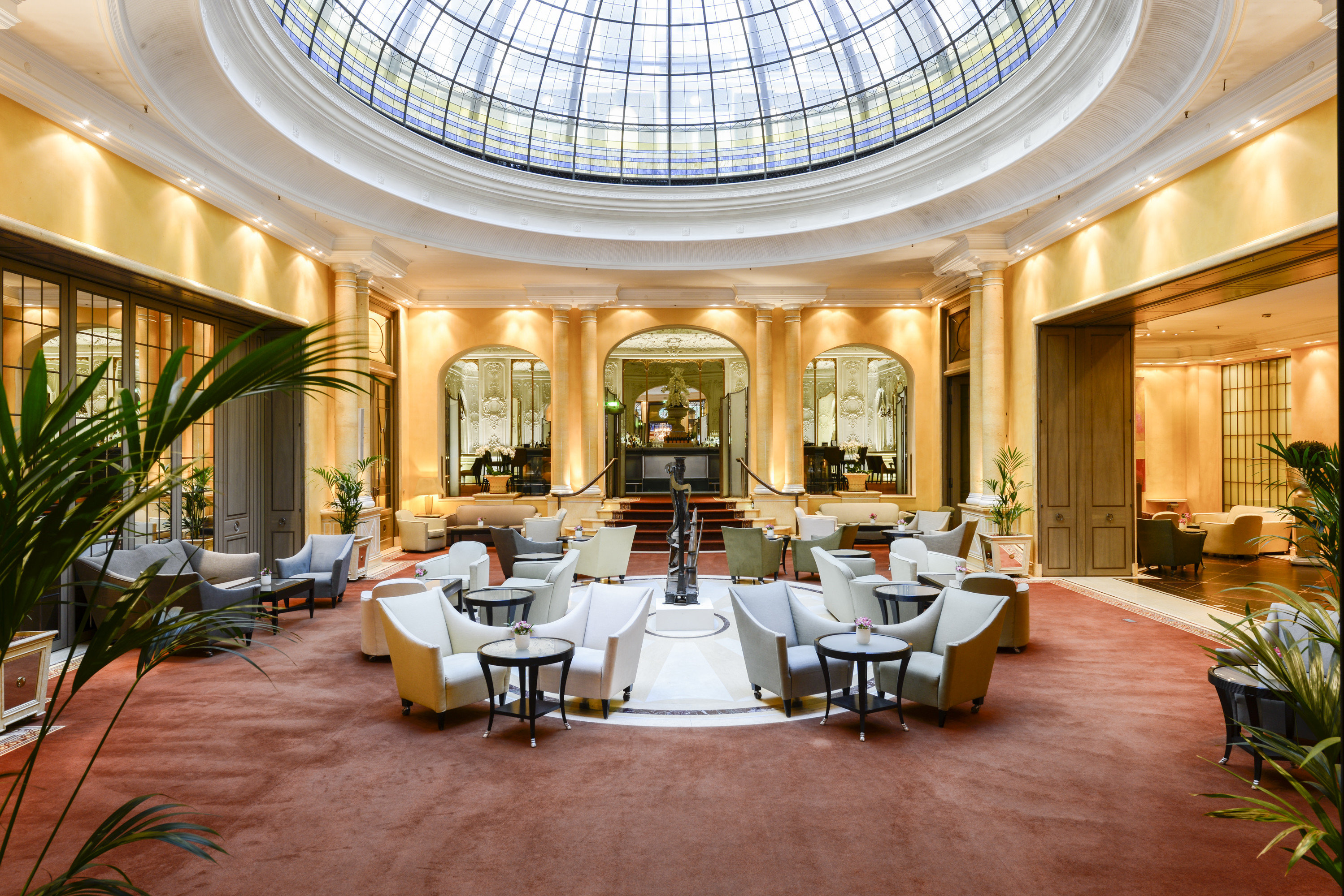 europe Germany Hotels Munich indoor ceiling floor room window Lobby Living interior design furniture estate function hall real estate living room daylighting restaurant apartment plant several