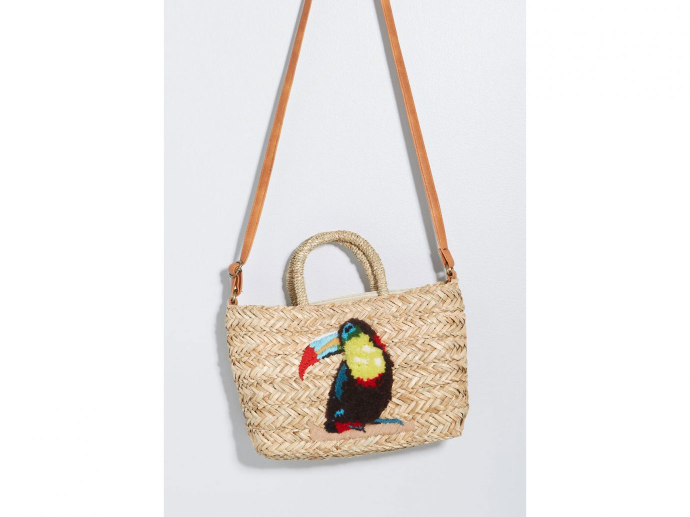 ModCloth Toucan Company Straw Tote