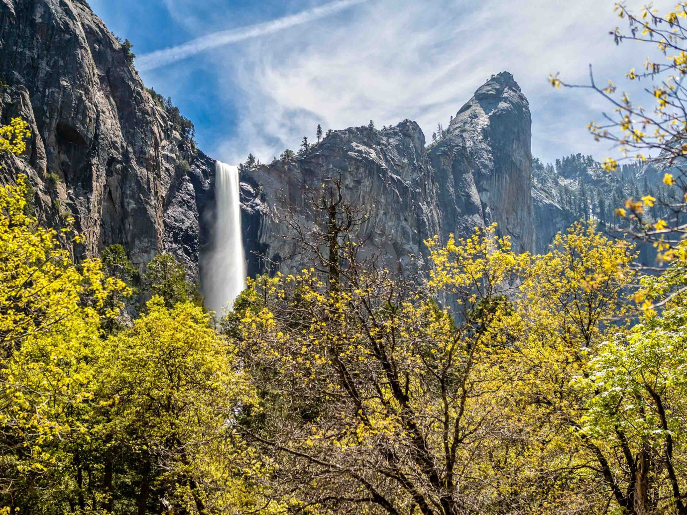 Bridalveil Falls in Yosemite National park