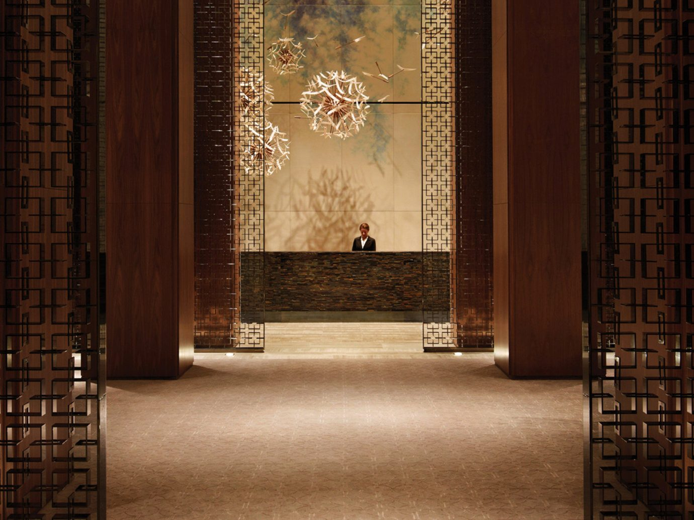 Architecture Canada Design Hotels Lobby Luxury Resort Toronto indoor wall floor flooring interior design wood lighting window covering door altar tiled