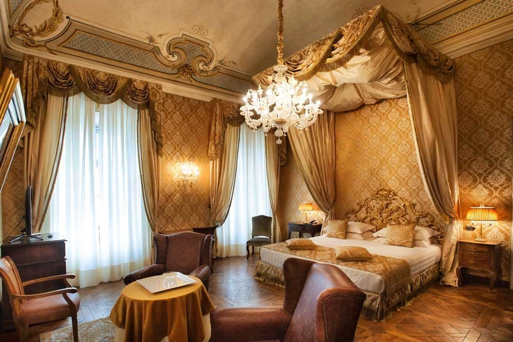 europe Hotels Italy Romance indoor wall floor room chair interior design restaurant Suite ceiling window treatment window furniture estate function hall curtain decorated