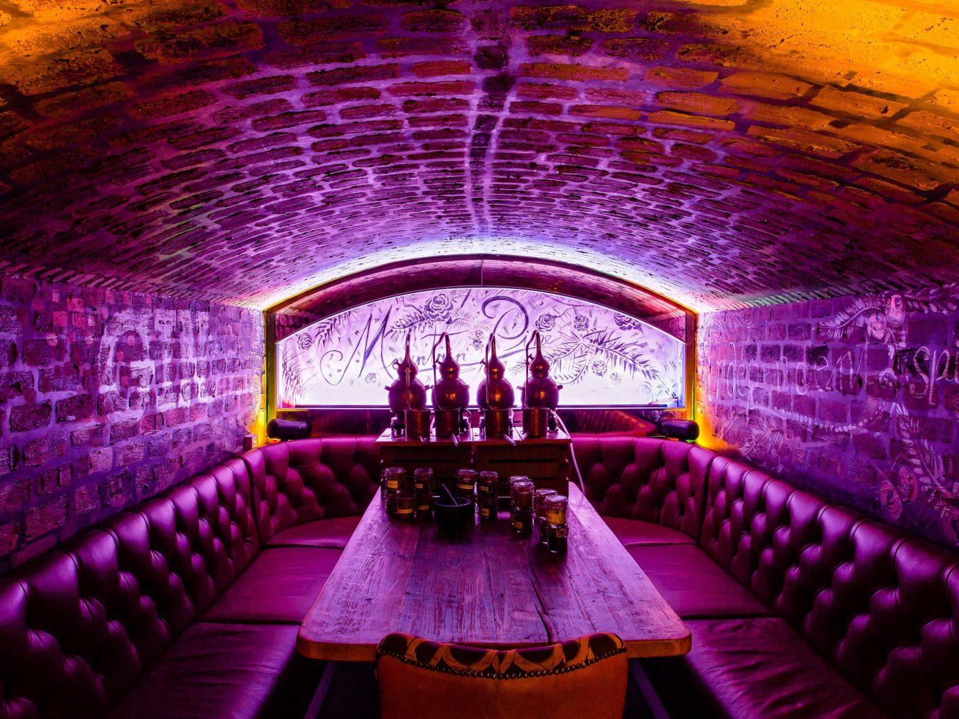 Edinburgh Hotels Jetsetter Guides Scotland Travel Tips Trip Ideas purple light Architecture lighting symmetry magenta theatre function hall auditorium