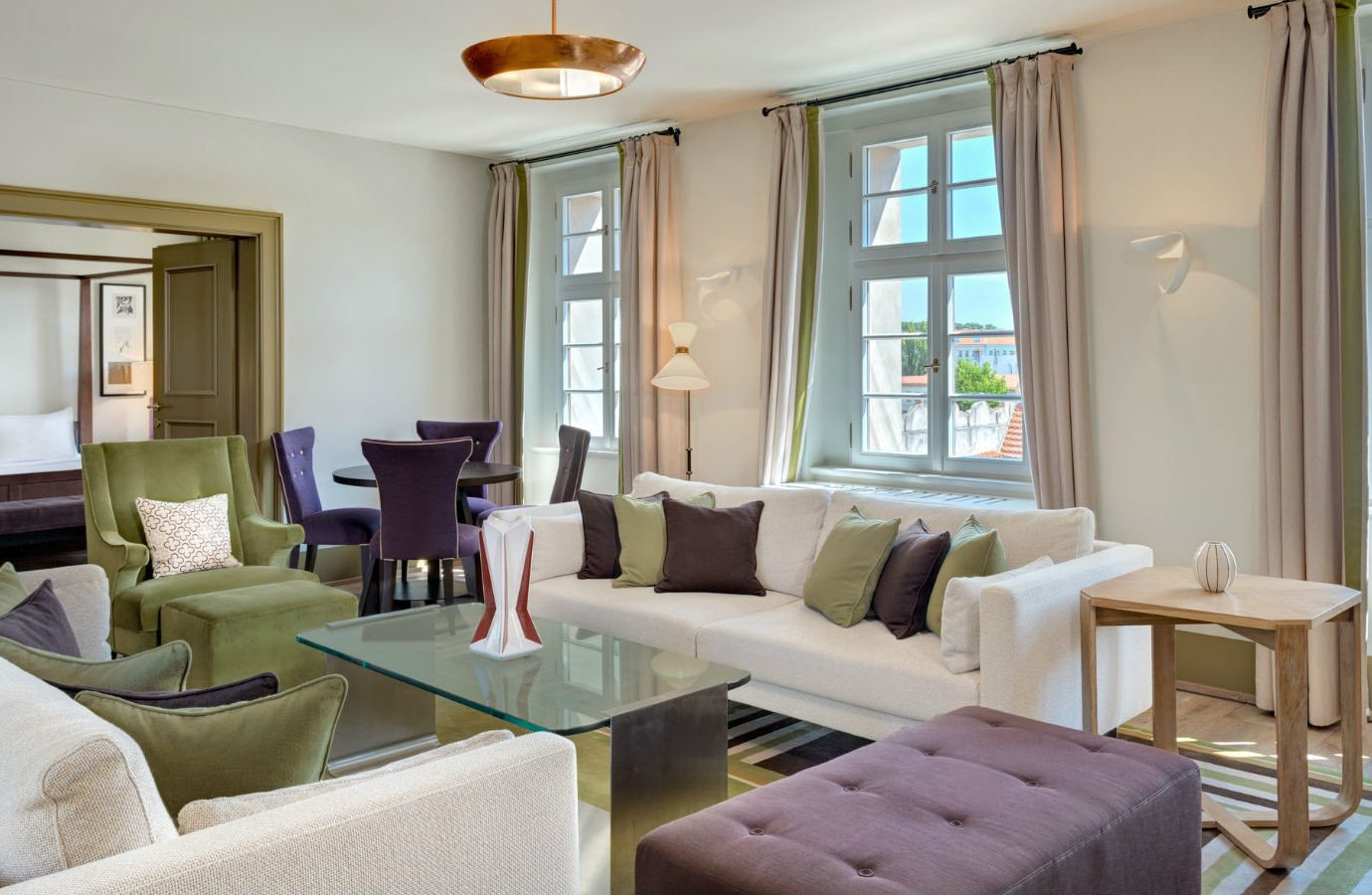 europe Hotels Prague floor indoor room window Living living room sofa wall property interior design home real estate furniture Suite ceiling apartment estate house table interior designer penthouse apartment Modern area decorated several