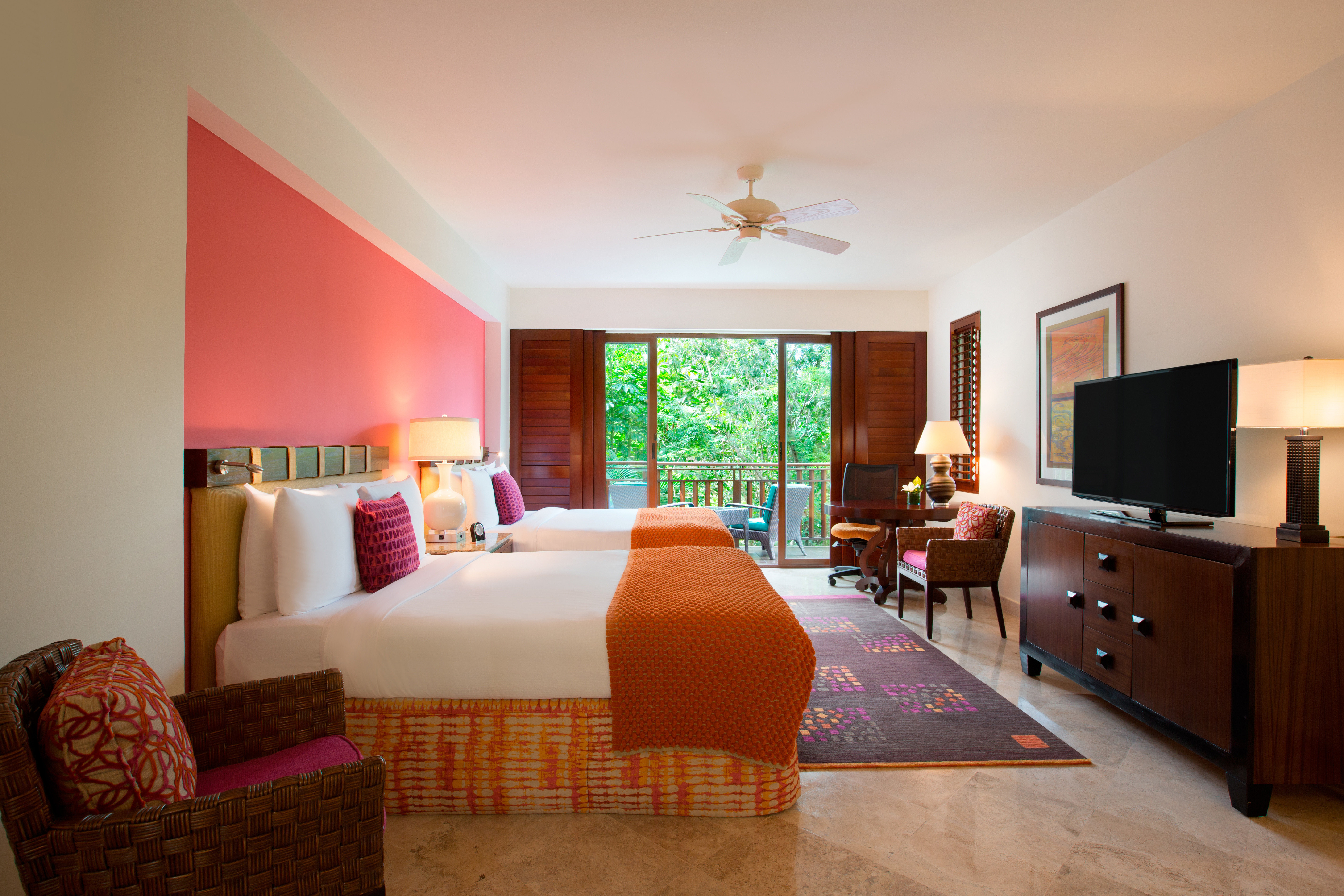 All-Inclusive Resorts Beachfront Bedroom caribbean Classic Family Family Travel Hotels Living Resort indoor wall floor room ceiling sofa property living room bed red estate home real estate Suite hardwood interior design cottage Villa furniture Design farmhouse apartment decorated