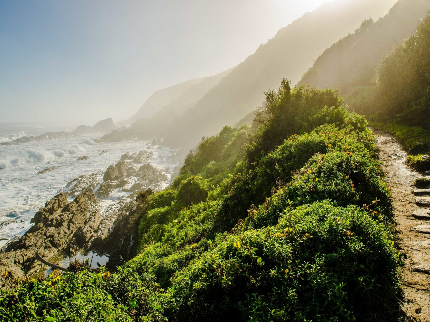 Nature vegetation water Coast sky morning Sea tree terrain hill station mountain sunlight cliff landscape grass rock mount scenery hill bank mist plant