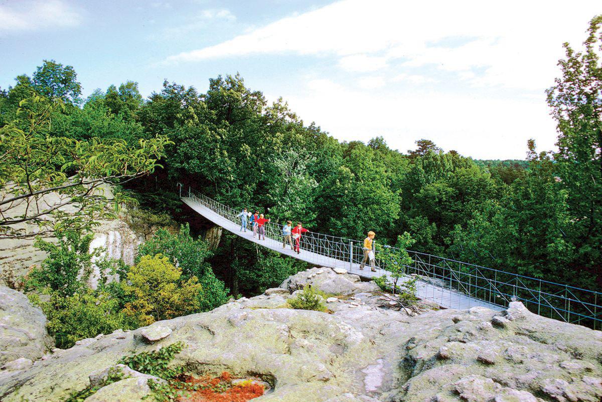 America Trip Ideas Weekend Getaways tree outdoor sky transport geological phenomenon River rock bridge Nature waterway reservoir track traveling hillside