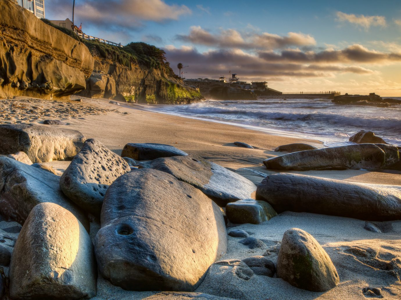 America Trip Ideas West Coast outdoor sky rock shore Coast Sea Nature Beach body of water Ocean water wave River morning sand landscape Sunset bay cove material