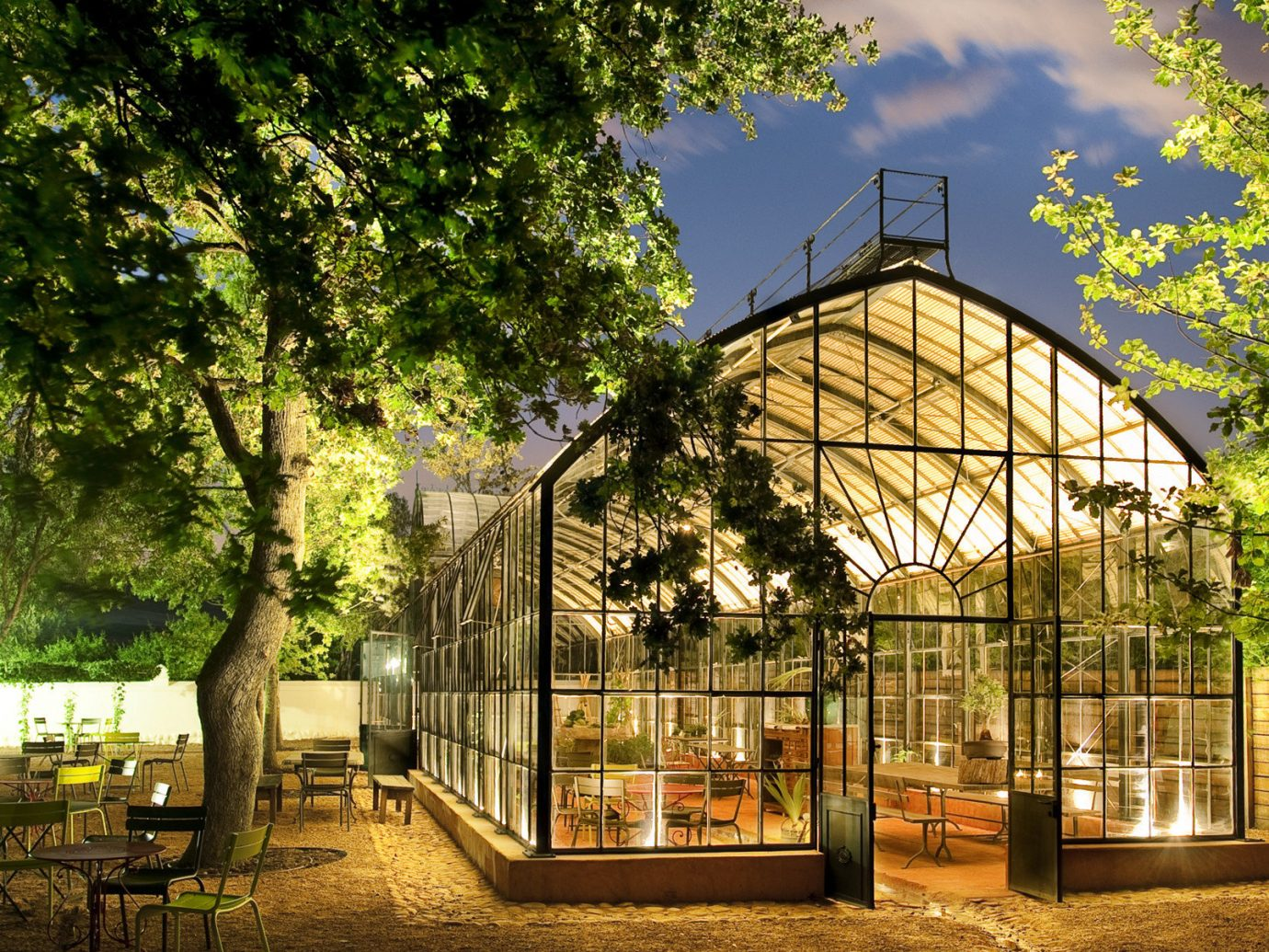 Babylonstoren; tree outdoor plant greenhouse Architecture outdoor structure home house real estate Garden estate park landscape cottage facade orangery area
