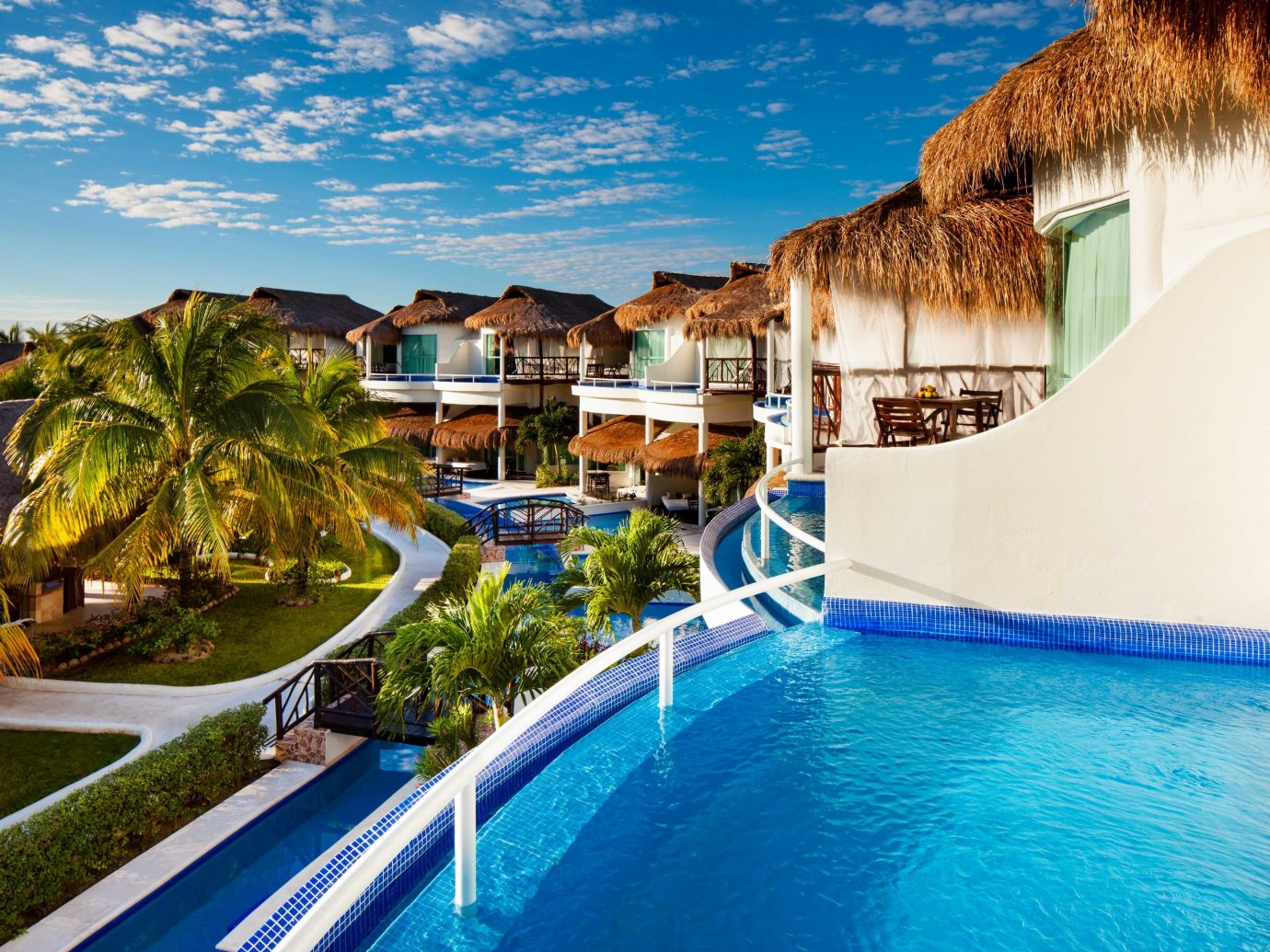 All-inclusive All-Inclusive Resorts Mexico Riviera Maya, Mexico Resort property swimming pool estate leisure real estate home resort town Villa hotel vacation caribbean hacienda palm tree mansion tourism arecales condominium house