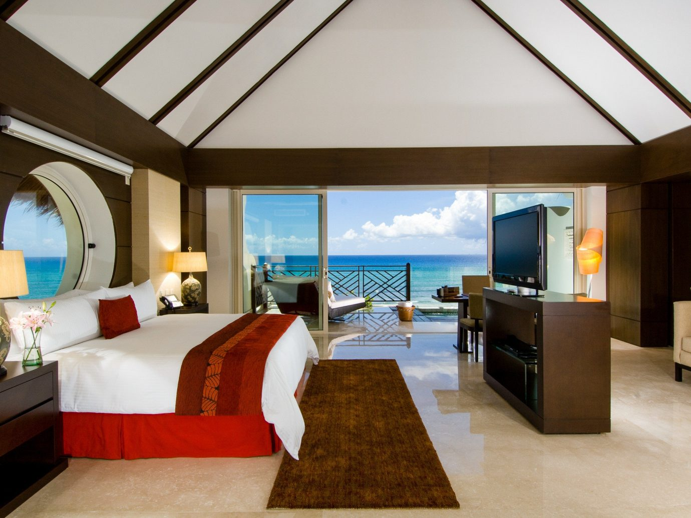 All-inclusive All-Inclusive Resorts Mexico Riviera Maya, Mexico indoor floor room wall sofa ceiling bed Living hotel Suite interior design Resort estate furniture real estate Bedroom penthouse apartment area