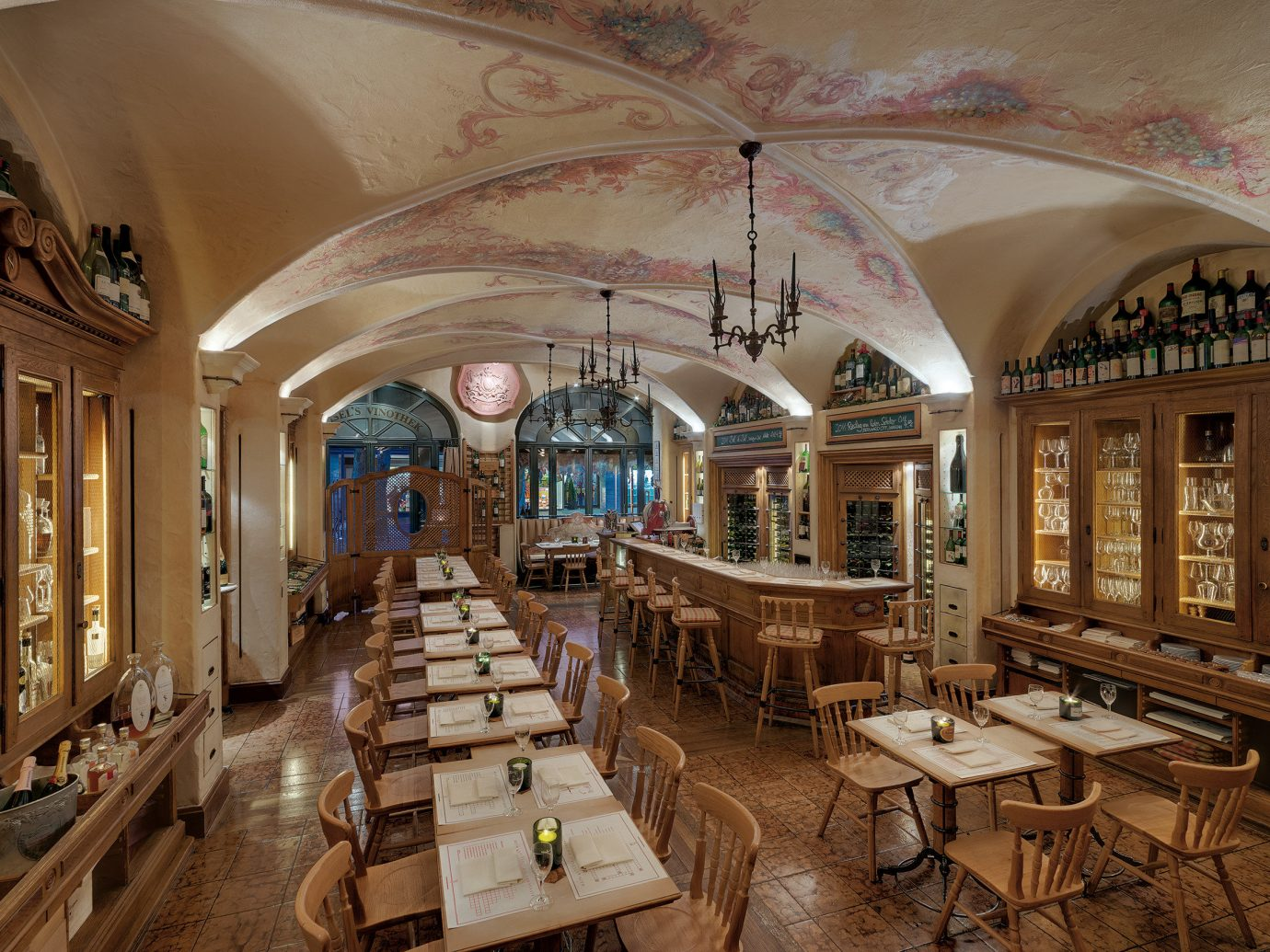 europe Germany Hotels Munich indoor interior design ceiling restaurant Lobby estate furniture several dining room