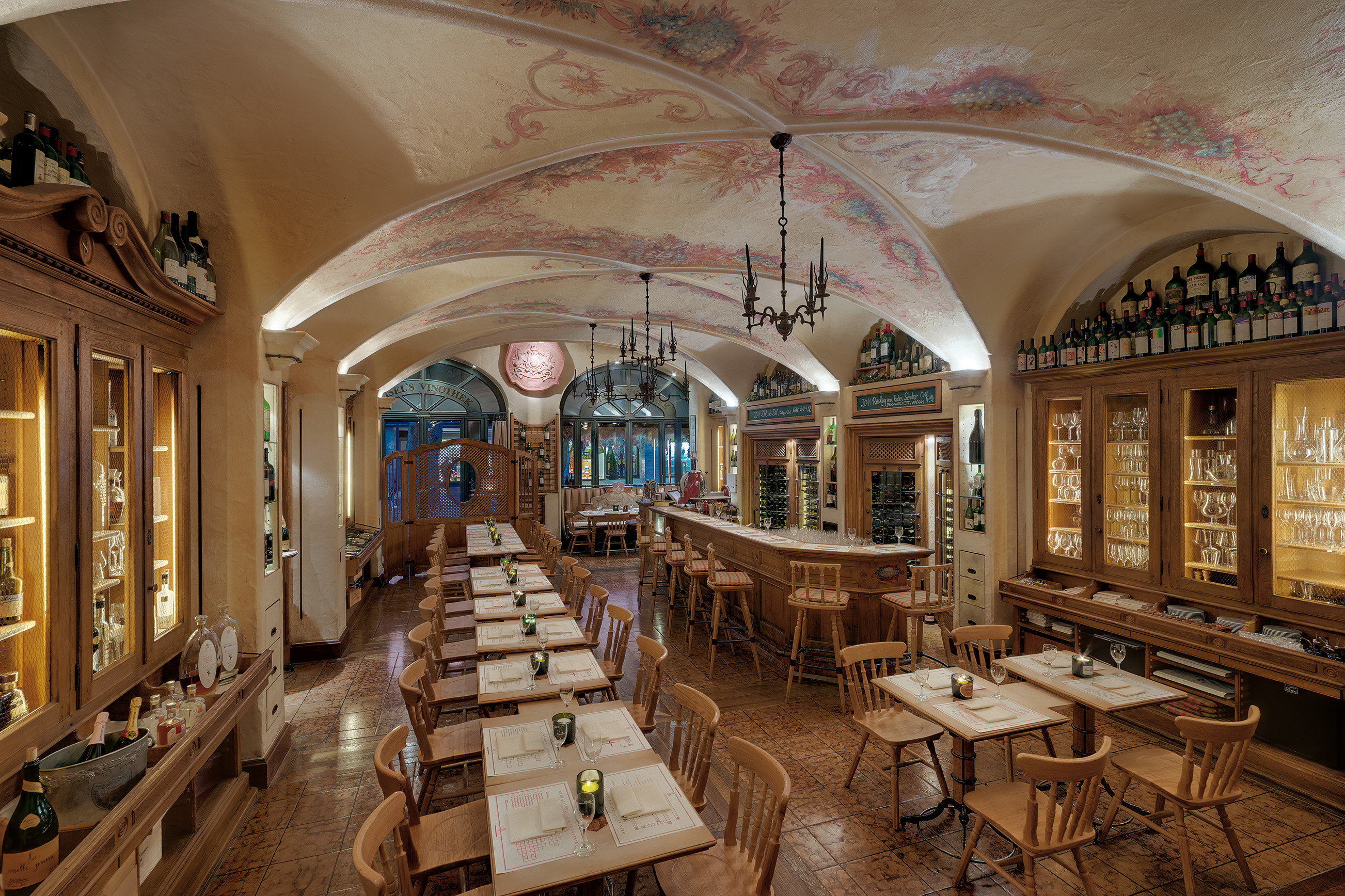 europe Germany Hotels Munich indoor interior design ceiling restaurant Lobby estate furniture several dining room