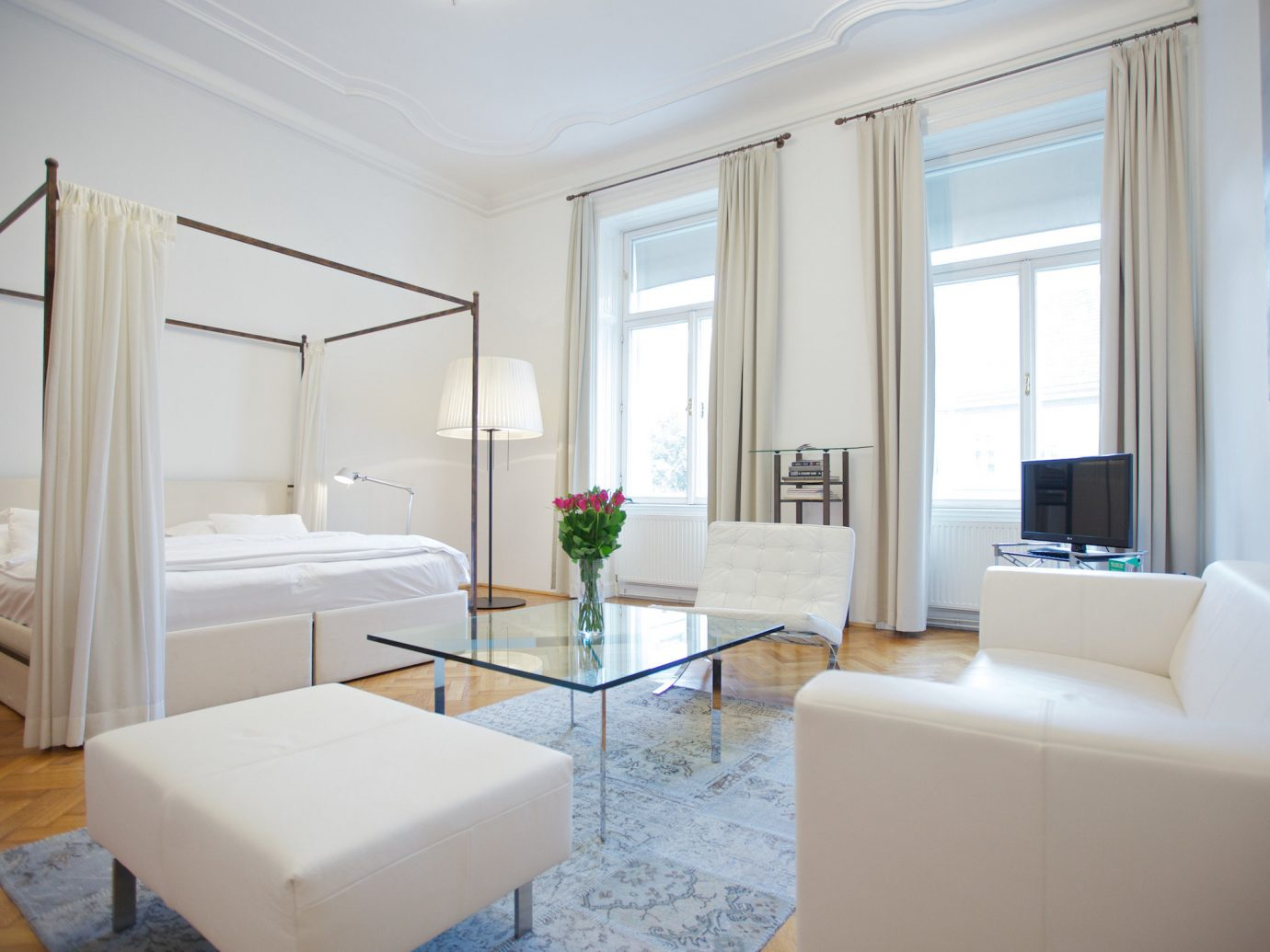 Austria europe Hotels Vienna indoor window floor wall room interior design real estate Suite living room home apartment ceiling white daylighting furniture Bedroom estate interior designer penthouse apartment house