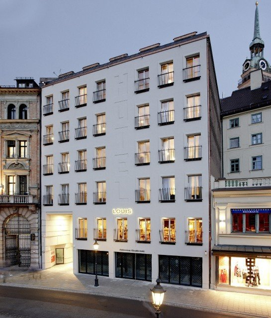 europe Germany Hotels Munich building Architecture mixed use facade window City apartment hotel metropolis condominium plaza classical architecture