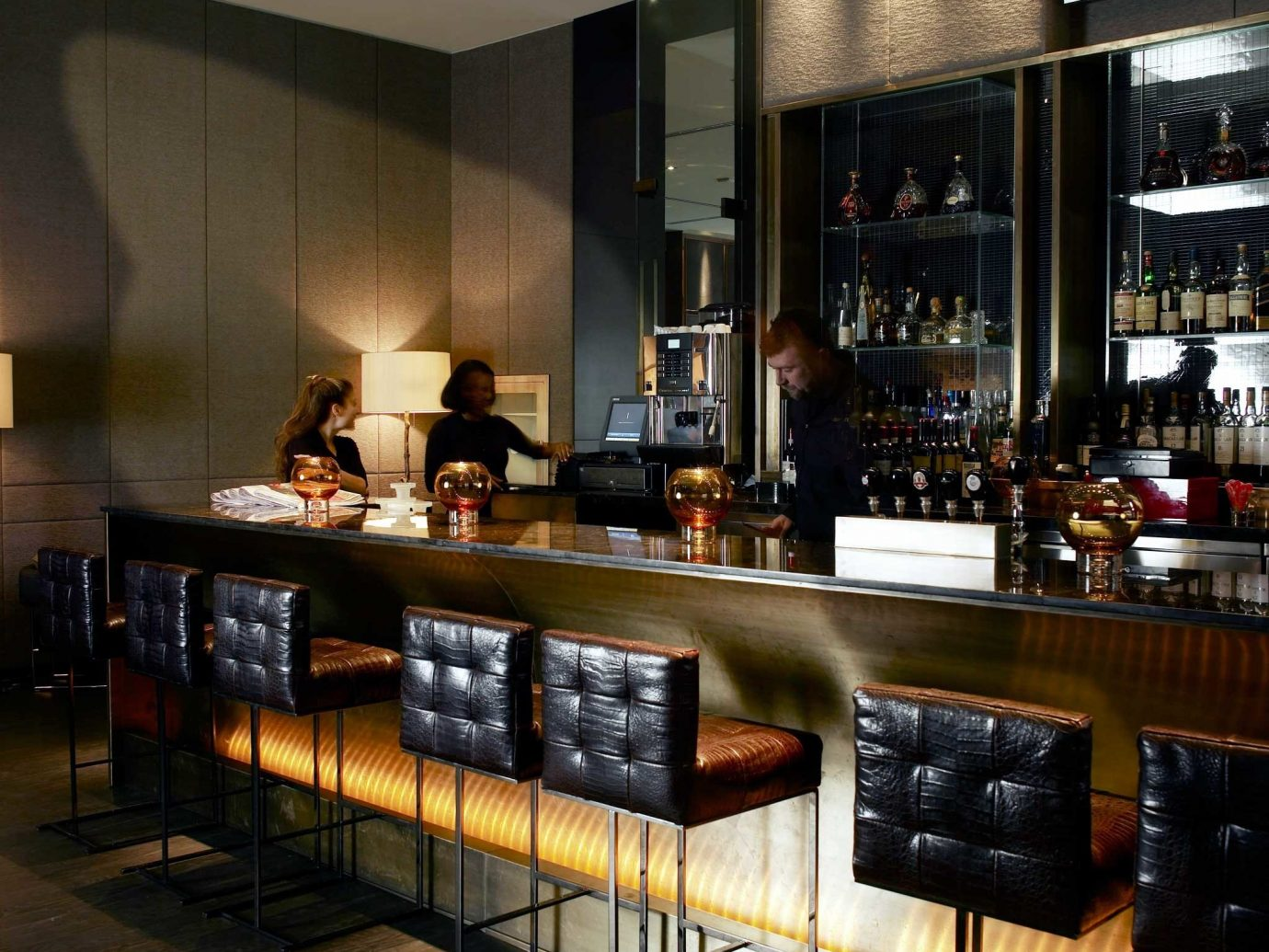 Bar Canada Drink Hotels Luxury Toronto indoor restaurant interior design café meal several