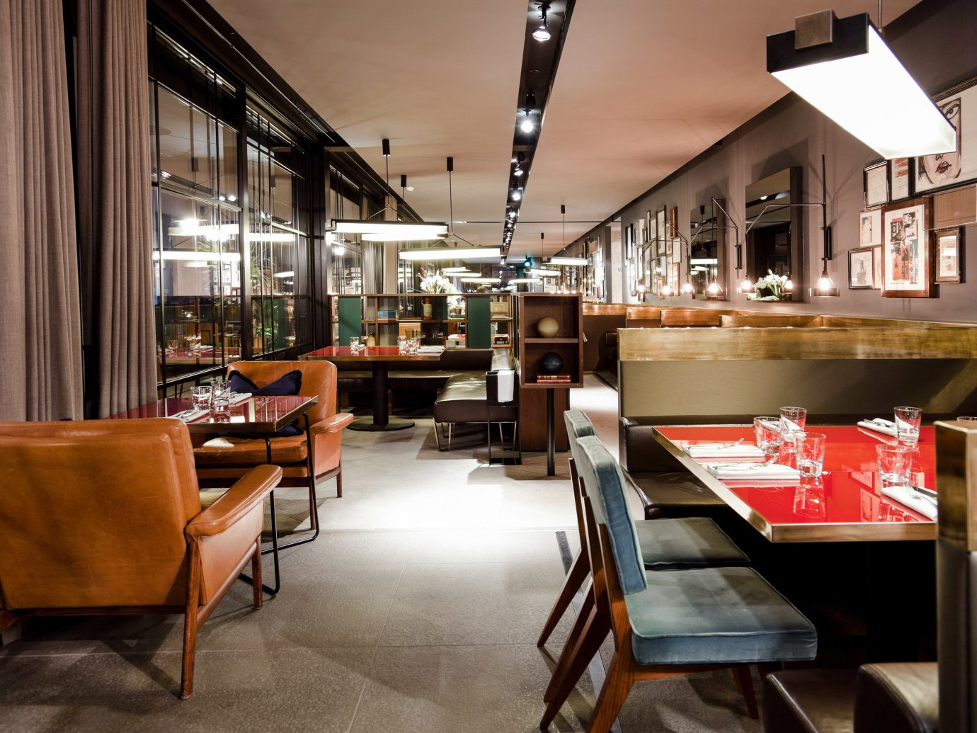 Arts + Culture Italy Milan floor indoor room table Living window chair restaurant interior design café furniture area