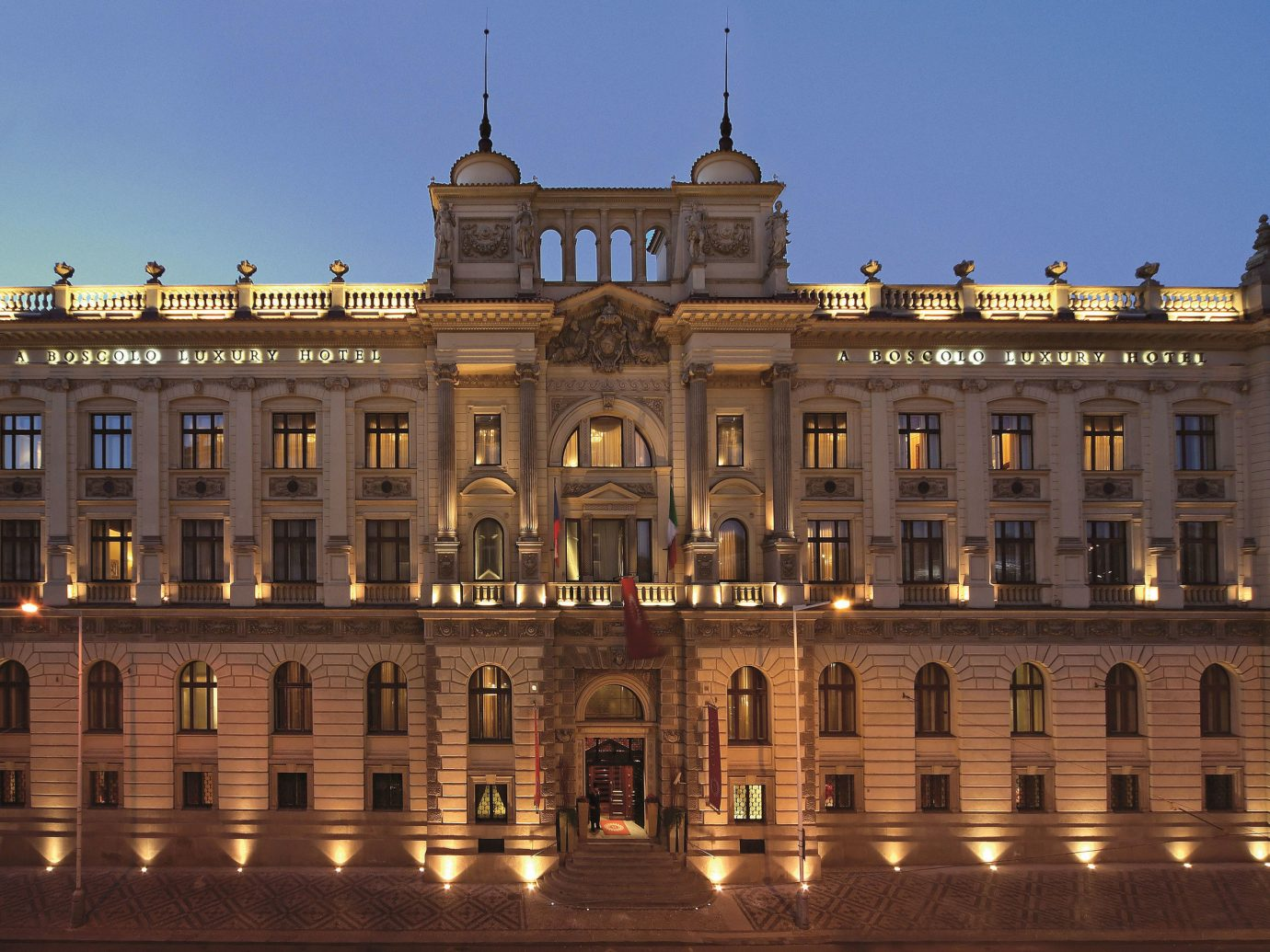 europe Hotels Prague building sky outdoor landmark plaza palace classical architecture Architecture château town square facade government building stately home City estate