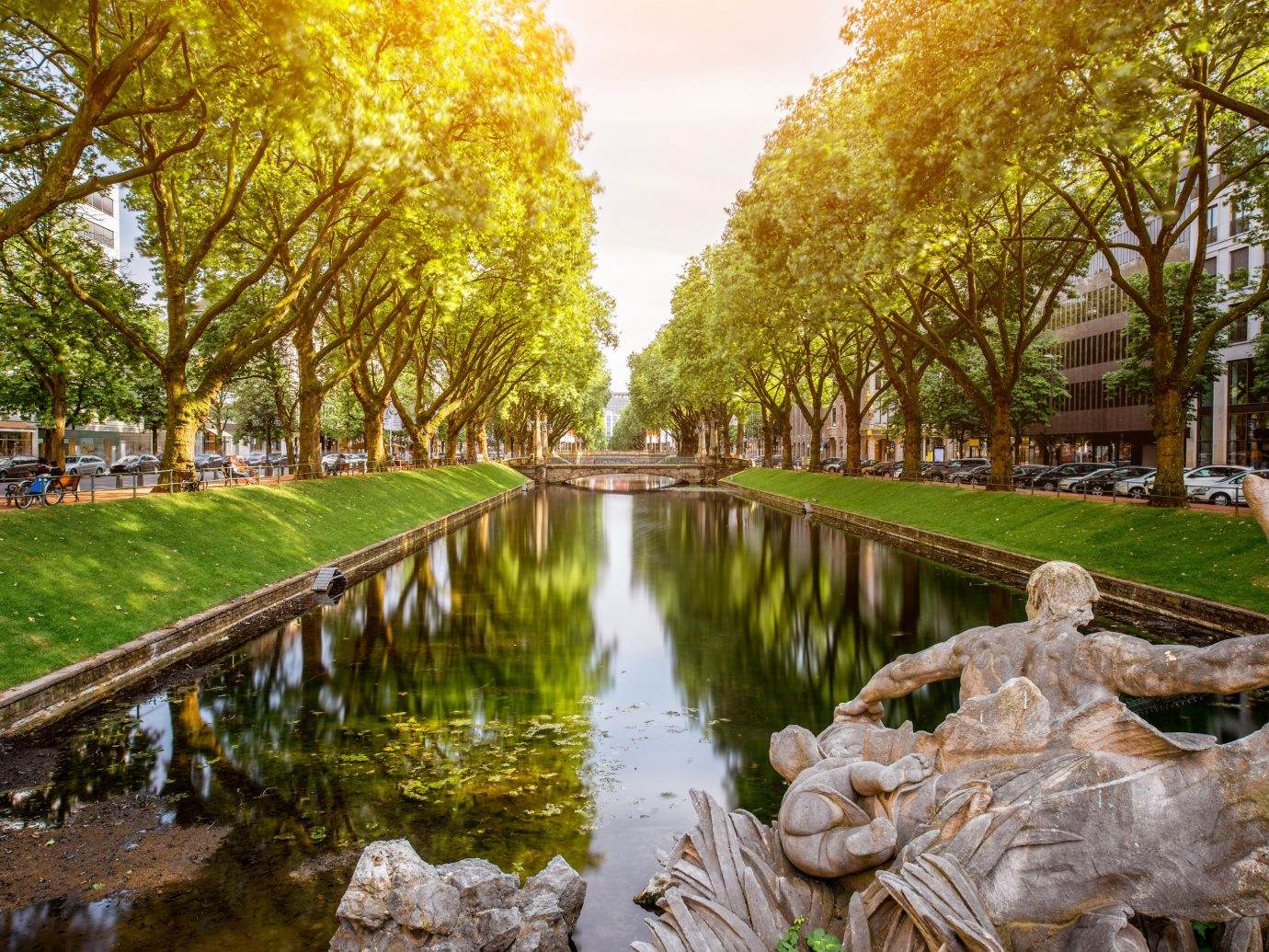 Berlin Germany Munich Trip Ideas water reflection waterway Nature tree leaf plant Canal bank sky watercourse autumn grass spring pond landscape reflecting pool recreation River water feature