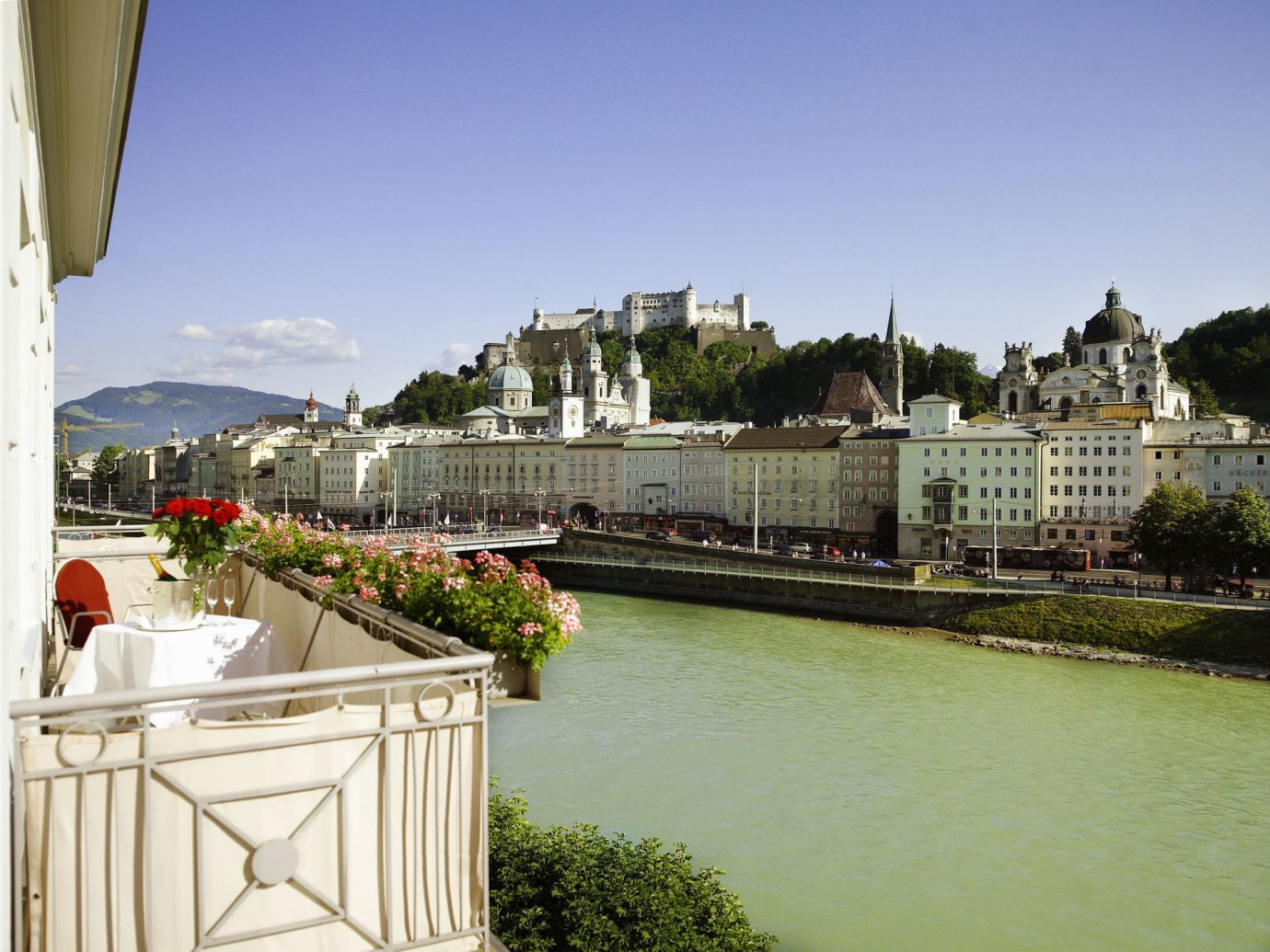 europe Hotels Prague sky outdoor water Town River waterway Canal vacation tourism flower Resort