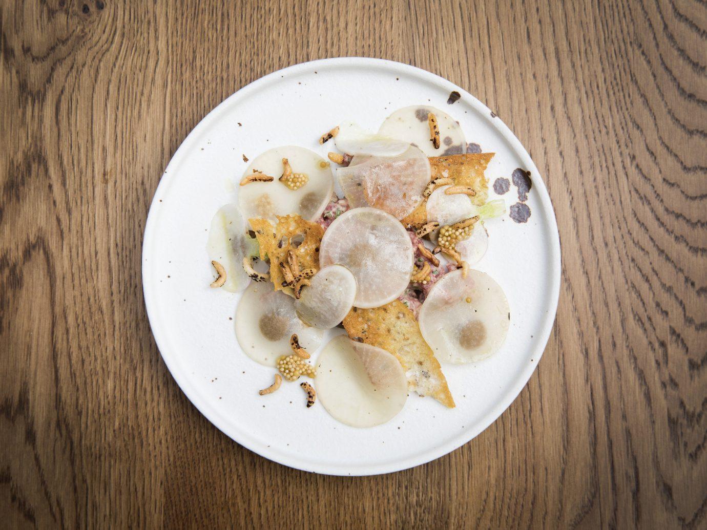England europe London Luxury Travel Trip Ideas plate food table dish wooden breakfast dishware slice meal fork eaten recipe half dessert sliced