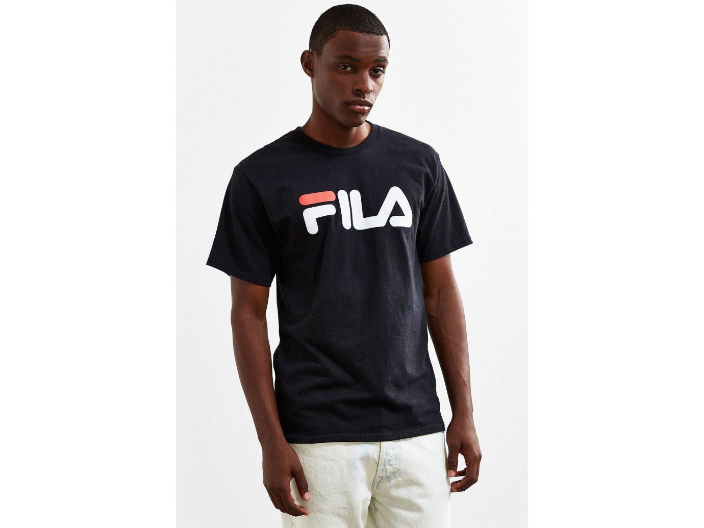 Spring Travel Style + Design Summer Travel Travel Shop t shirt person man sleeve standing shoulder jersey neck pocket product font brand sportswear male
