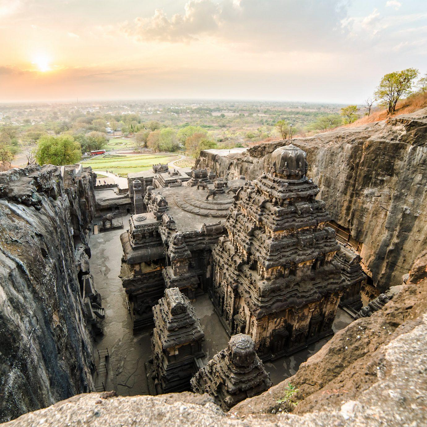India rock archaeological site sky formation ancient history historic site escarpment badlands geology landscape Ruins tourism outcrop cliff