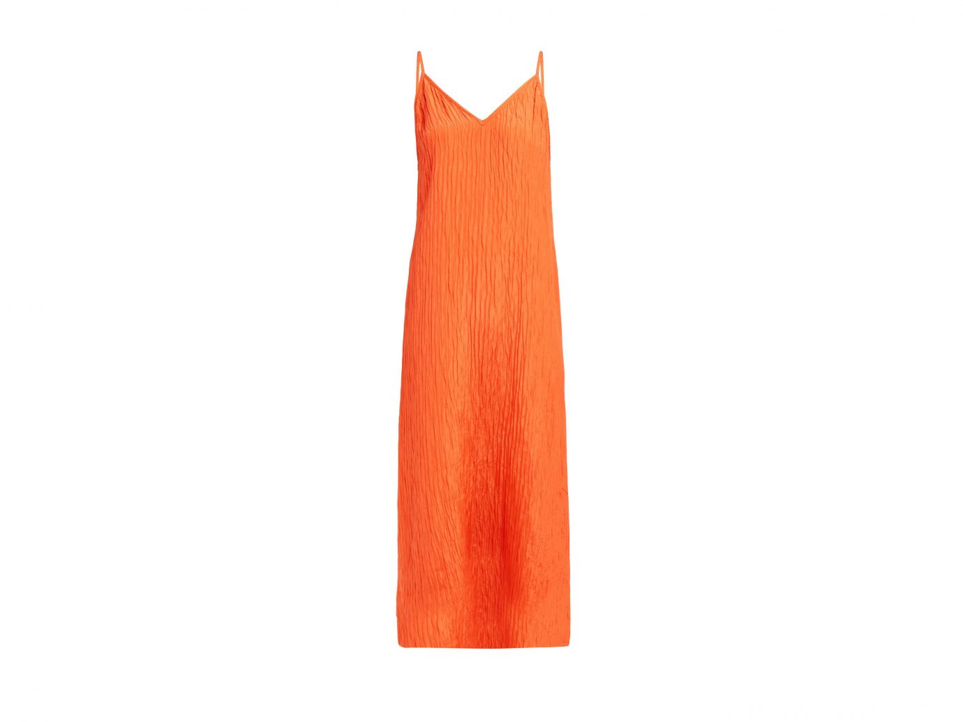 Raey V-Neck crinkled-silk midi slip dress