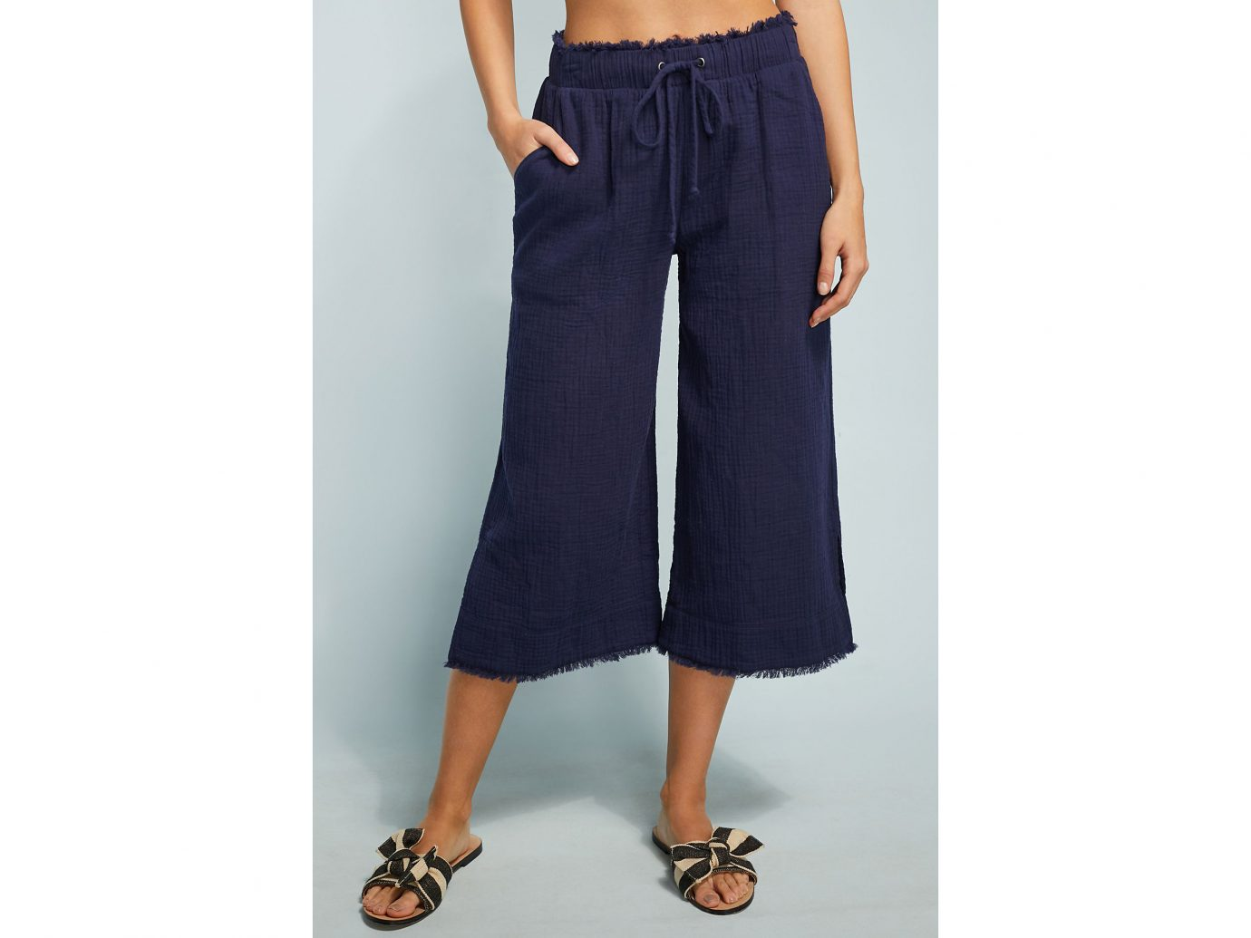 Cloth & Stone Cropped Wide Leg Pant