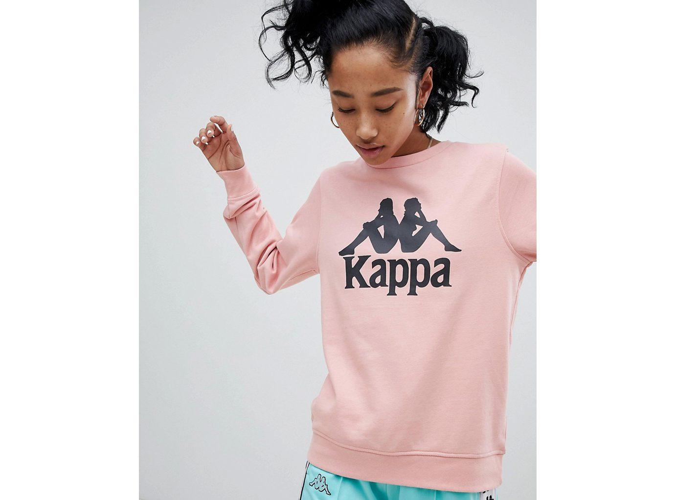 best sweatshirts, Kappa Oversized Sweatshirt with large Front Logo