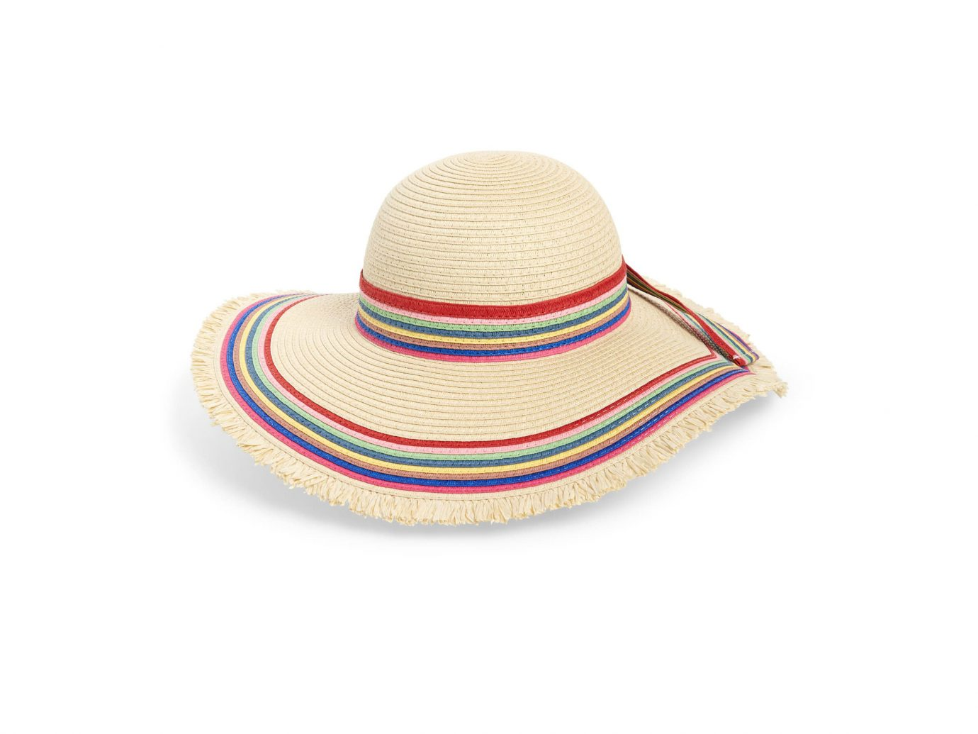Sole Society Rainbow Stripe Straw Hat