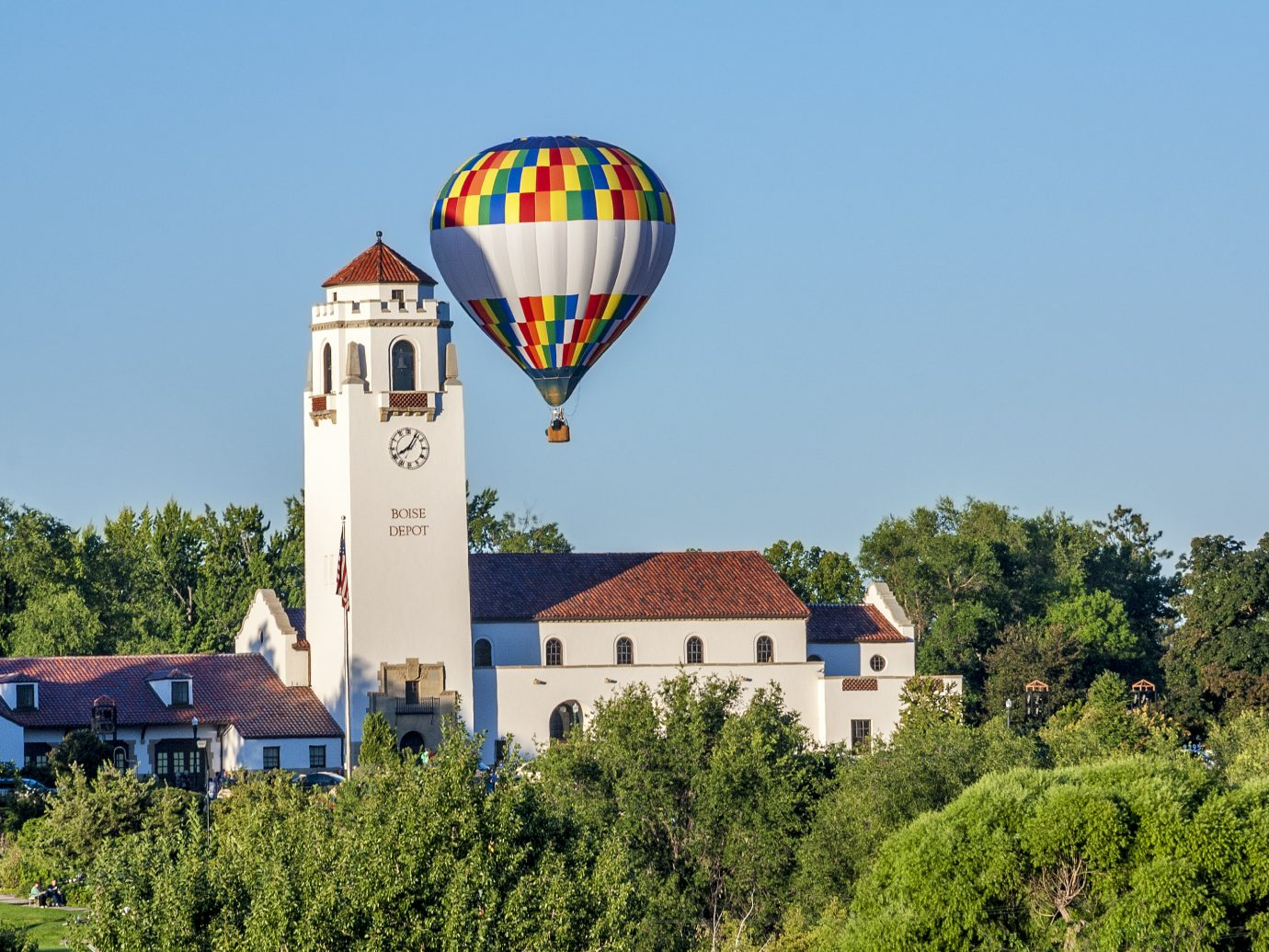 City park at the Boise depot and balloon