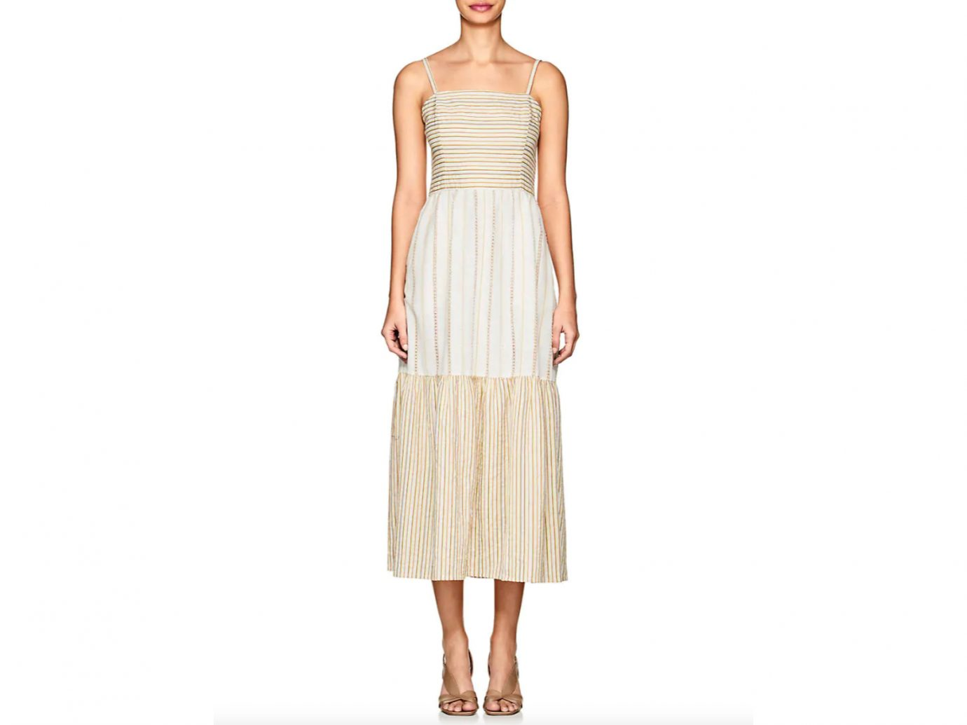 ACE & JIG Dusty Striped Cotton Maxi Dress
