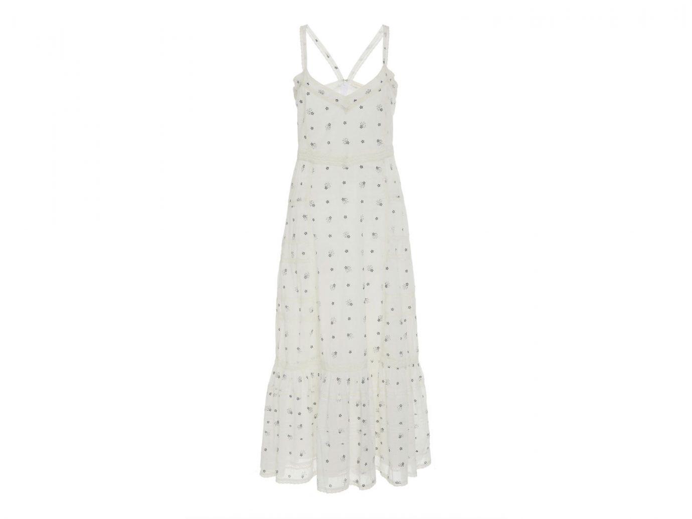 LoveShackFancy Edith Floral-Print Broderie Cotton Midi Dress