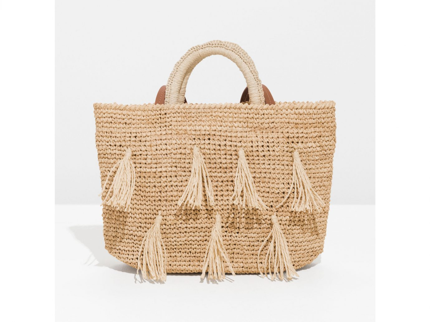 &Other Stories Tassel Woven Tote
