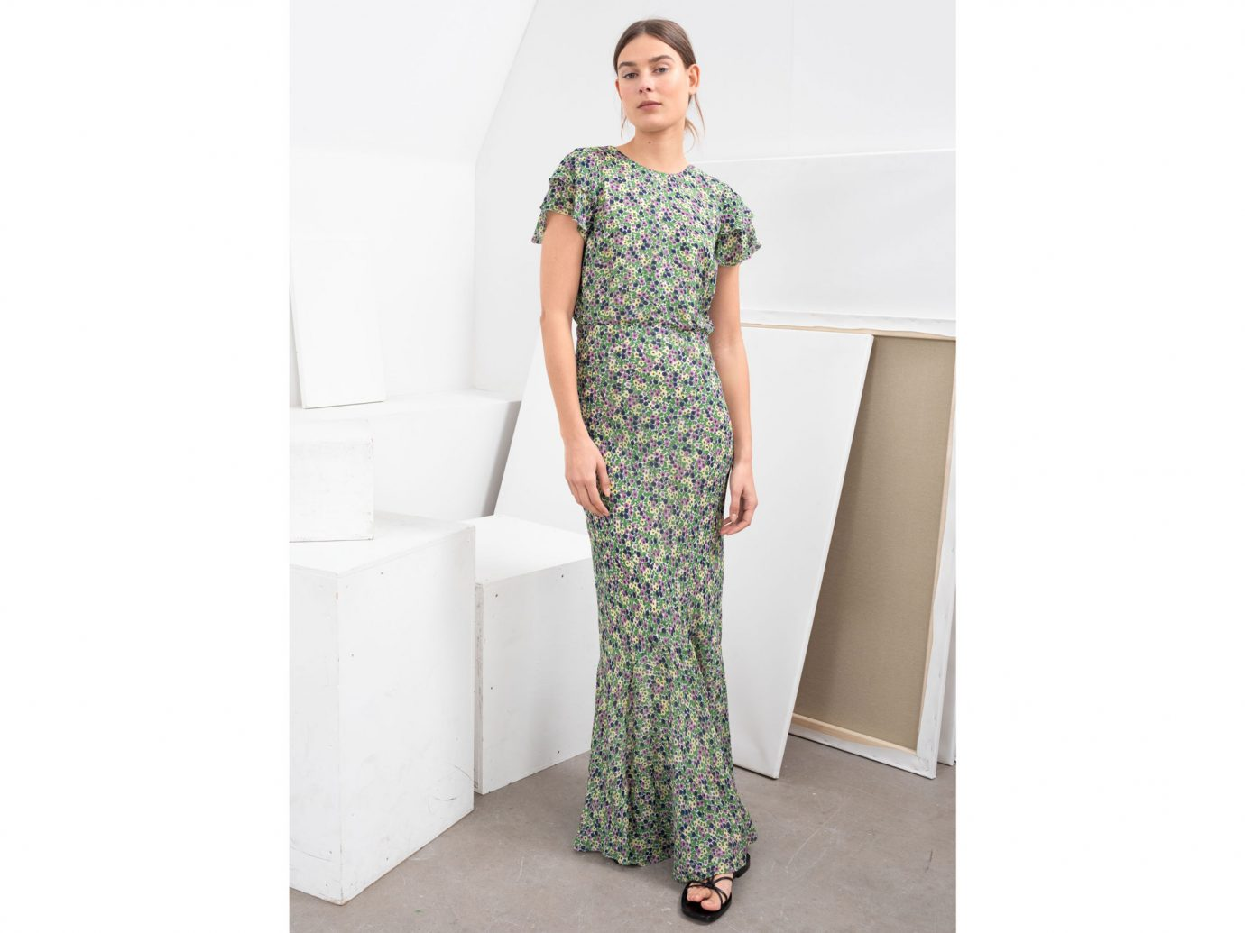 & Other Stories Ruffled Floral Maxi Dress